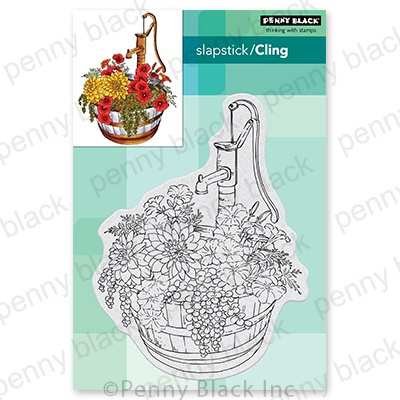 Penny Black Cling Stamps-Barrel Of Blooms