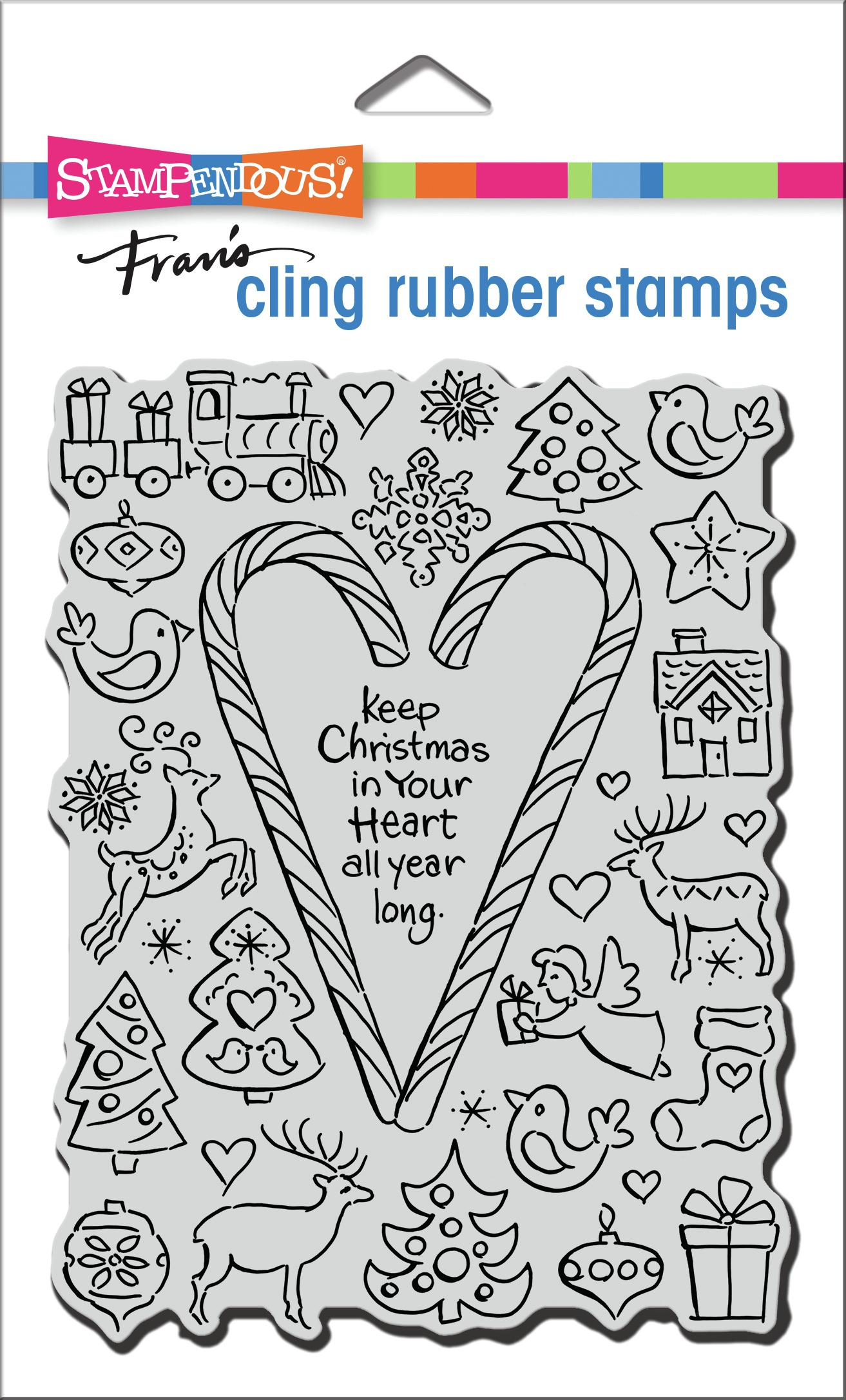 Stampendous Cling Stamp-Christmas Candy