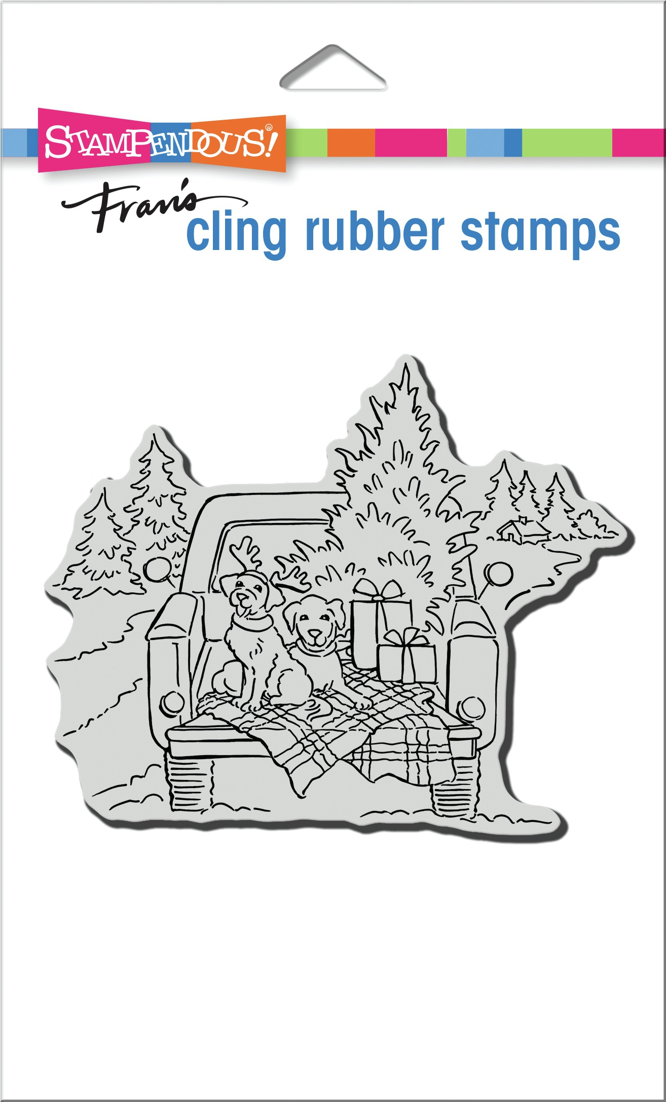 Stampendous Cling Stamp-Truck Ride