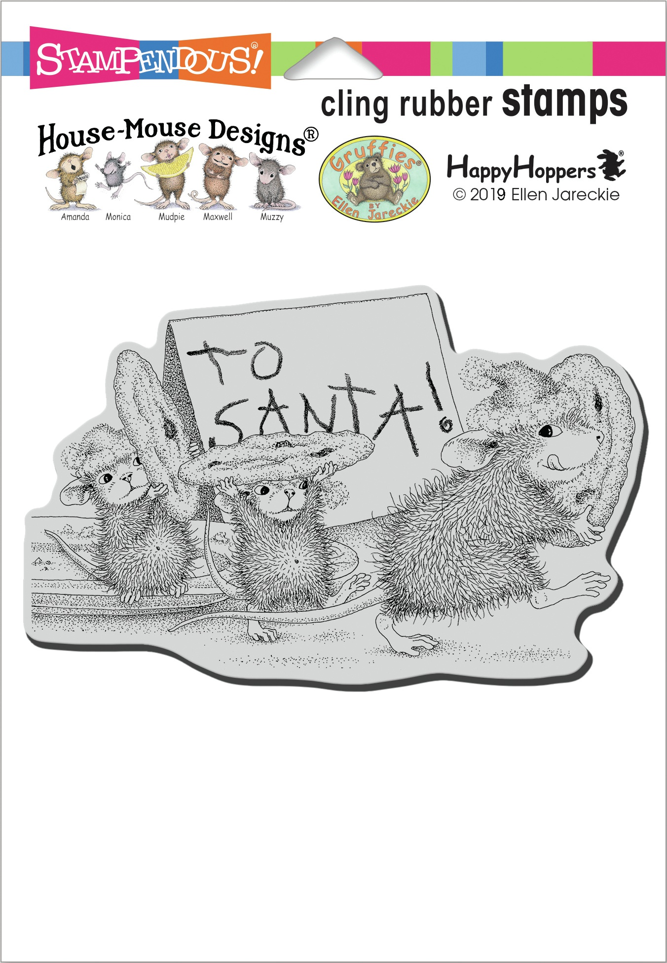 Stampendous House Mouse Cling Stamp-To Santa