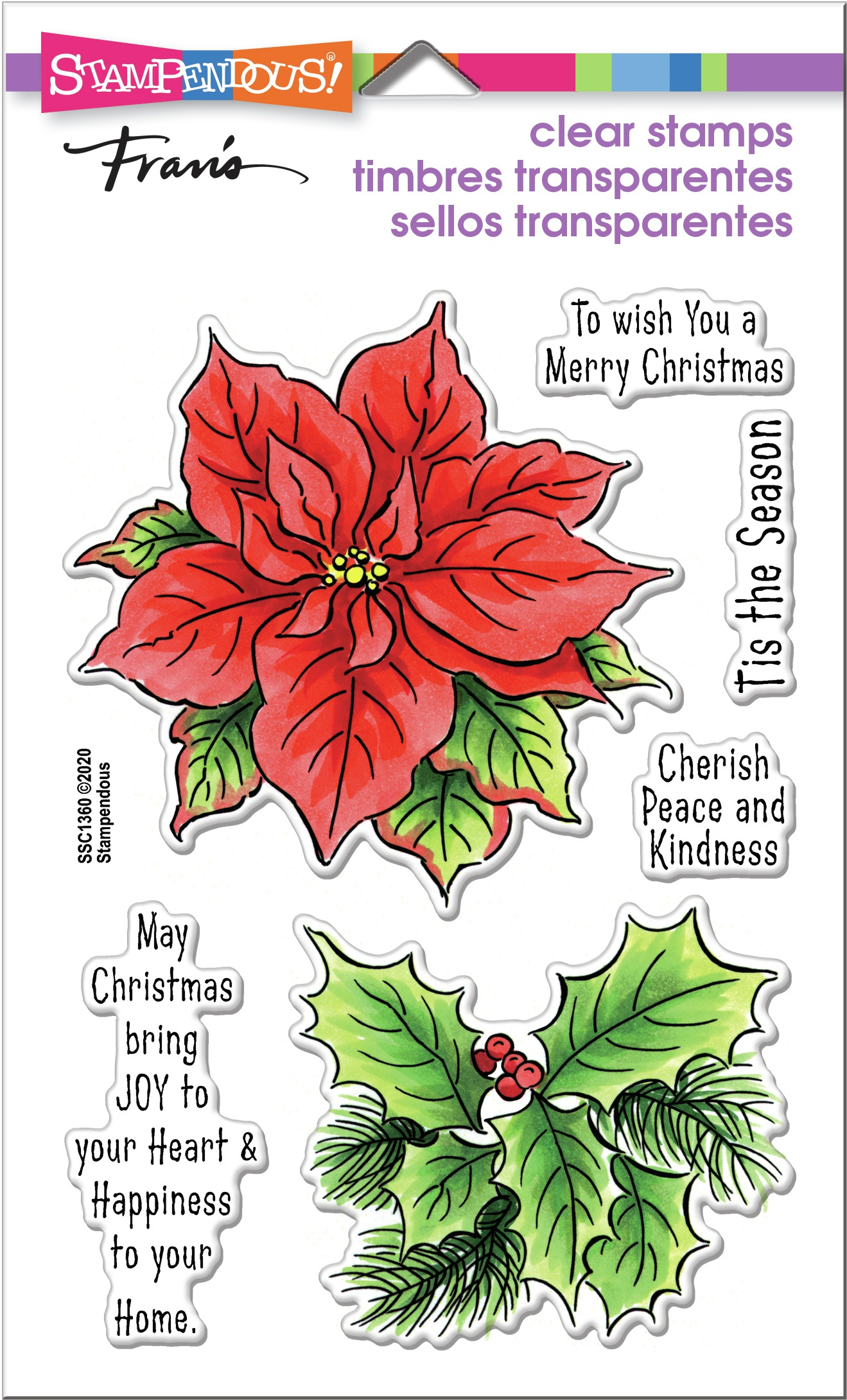 Poinsettia Season Stamp Set