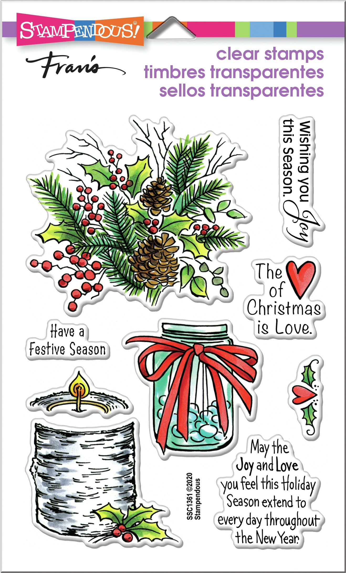 Stampendous Perfectly Clear Stamps-Festive Season