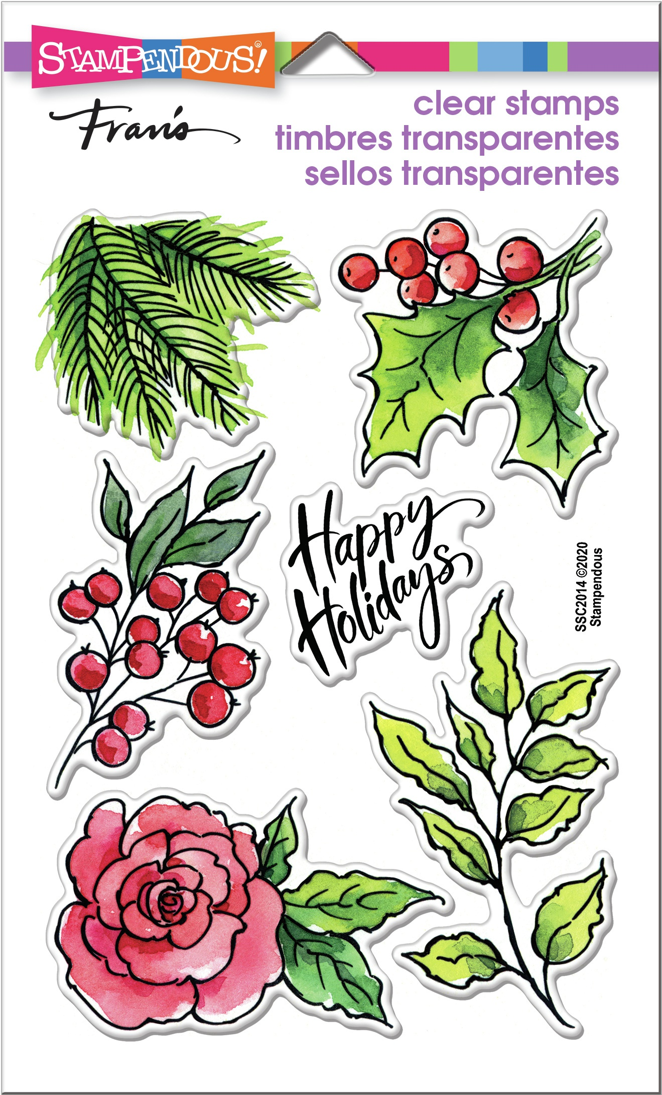 Stampendous Clear Stamps - Leafy Holiday