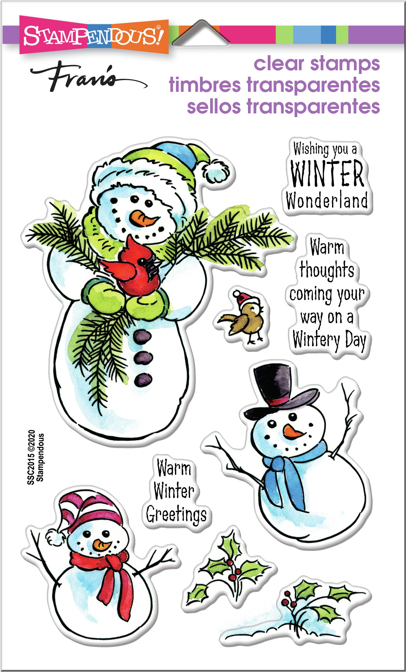 Stampendous Clear Stamps - Wintery Day