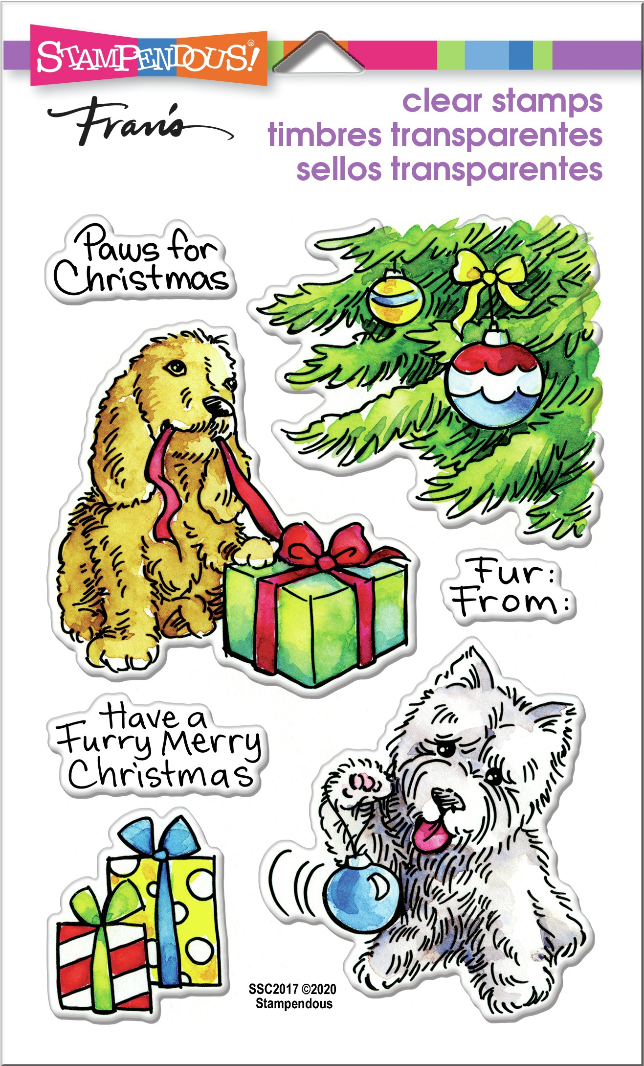 Stampendous Clear Stamps - Furry Christmas