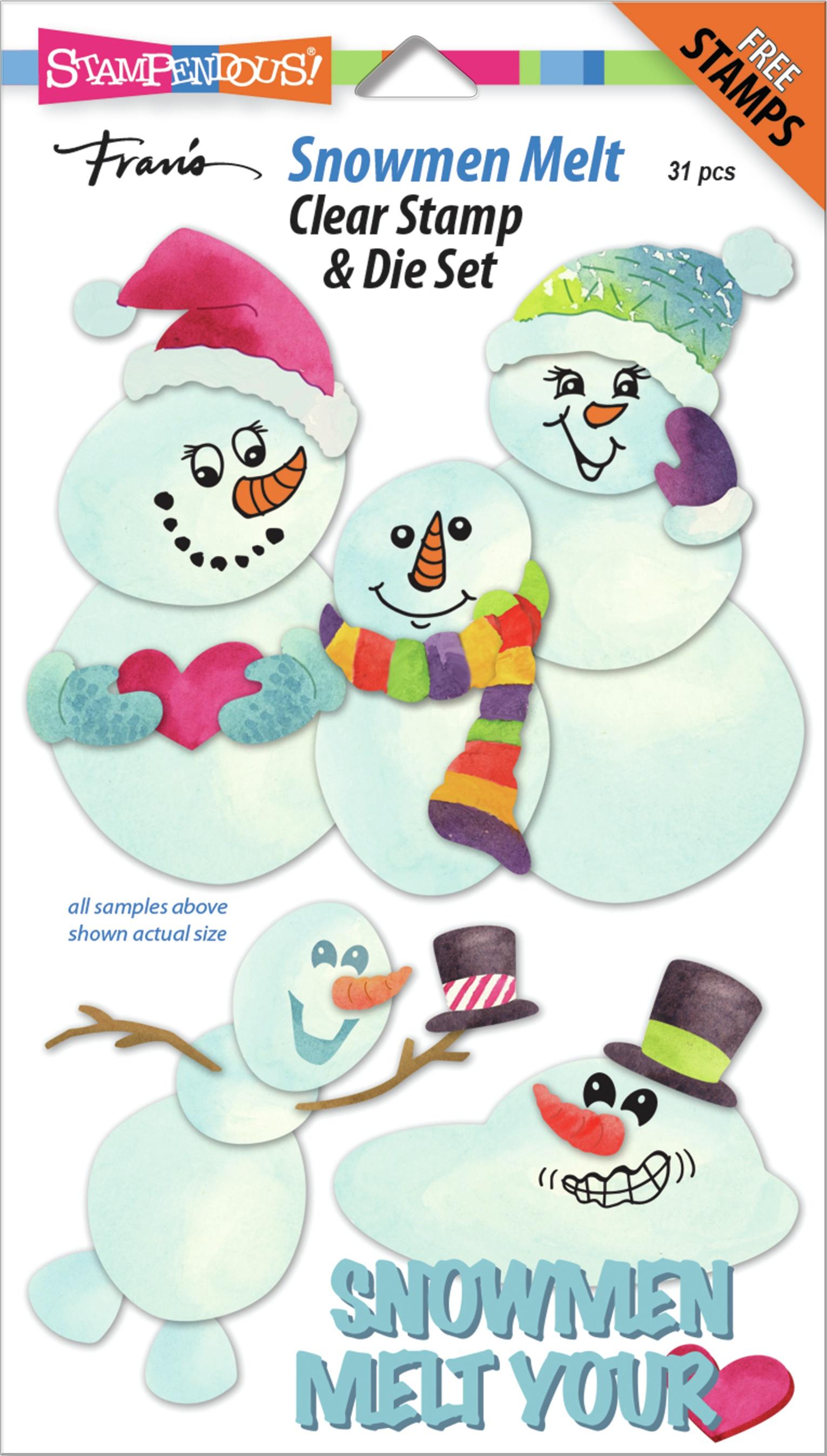 Stampendous Clear Stamp & Die Set-Snowmen Melt