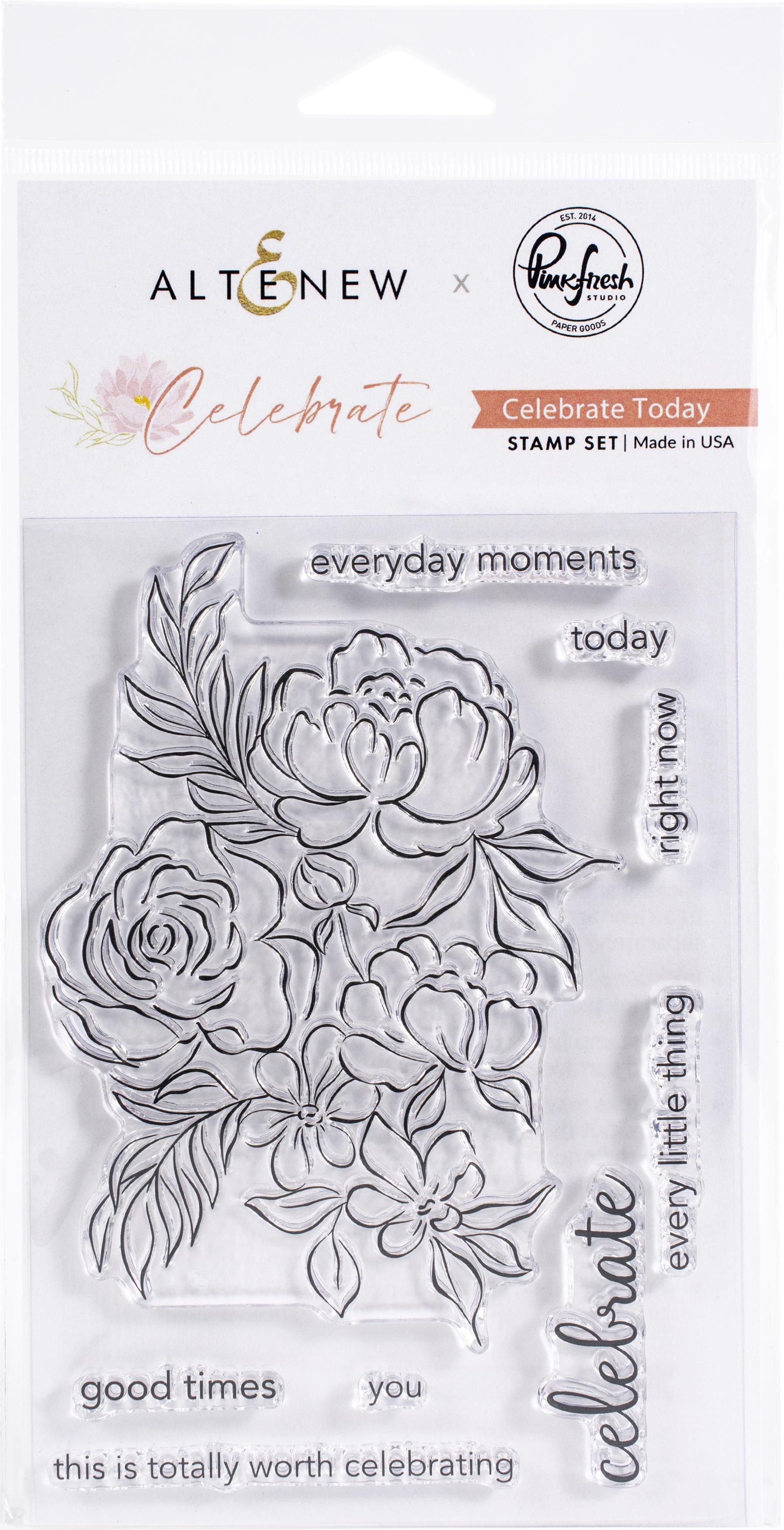 Pinkfresh Studio Clear Stamp Set 4X6-Celebrate Today