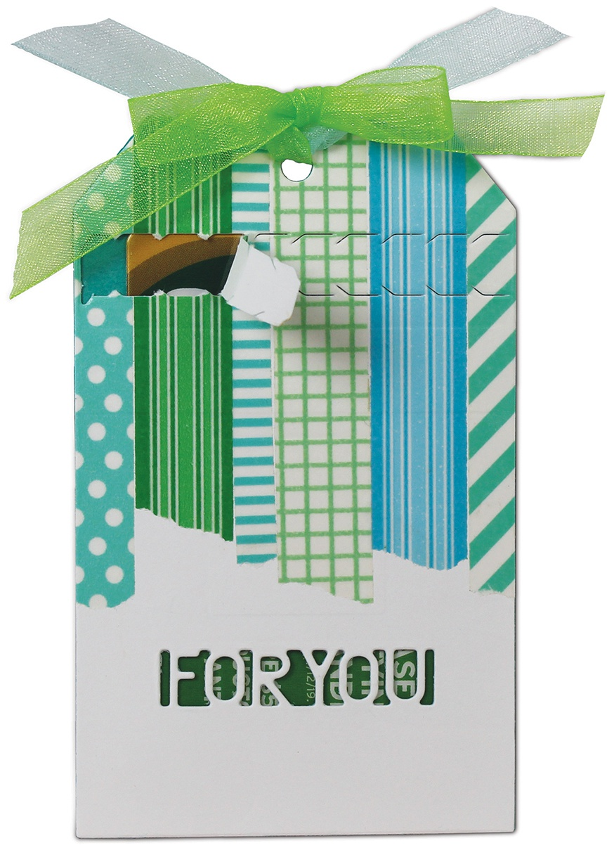 i-crafter Dies-Zip Gift Tag