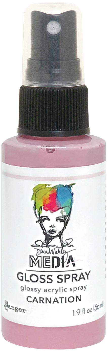 Dina Wakley Media Gloss Sprays 2oz-Carnation