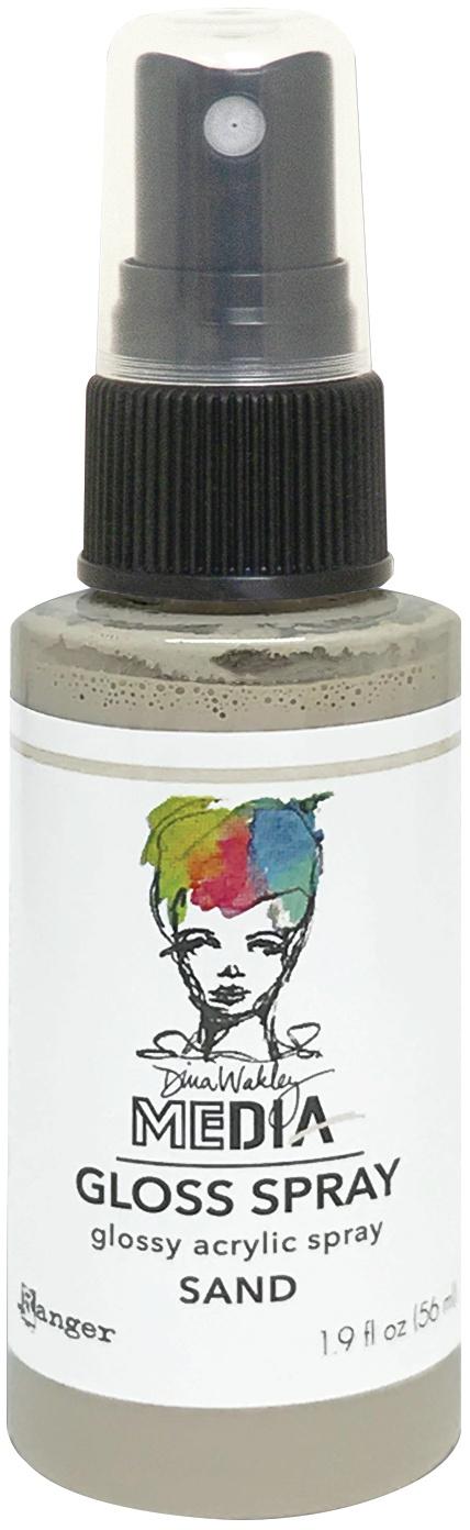 Dina Wakley Media Gloss Sprays 2oz-Sand