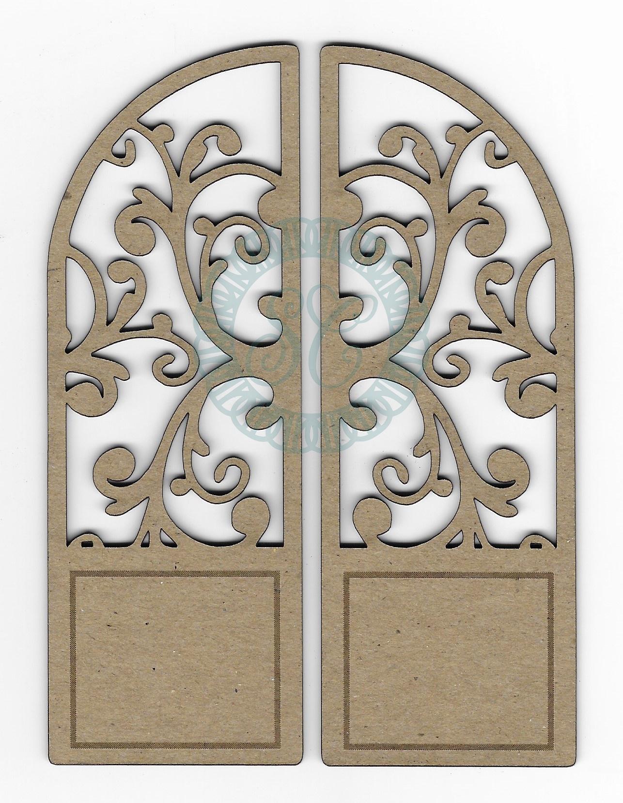 Scrapaholics Laser Cut Chipboard 1.8mm Thick-Arched Florish Door, 2/Pkg, 5X3.75...