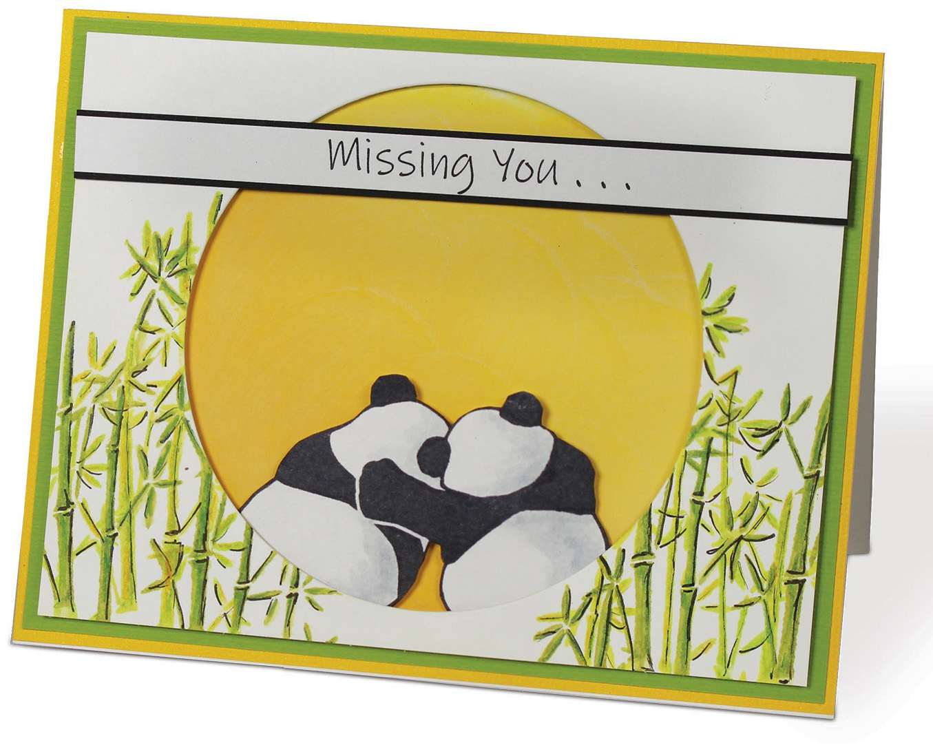 i-crafter Clear Acrylic Stamps-Playful Pandas