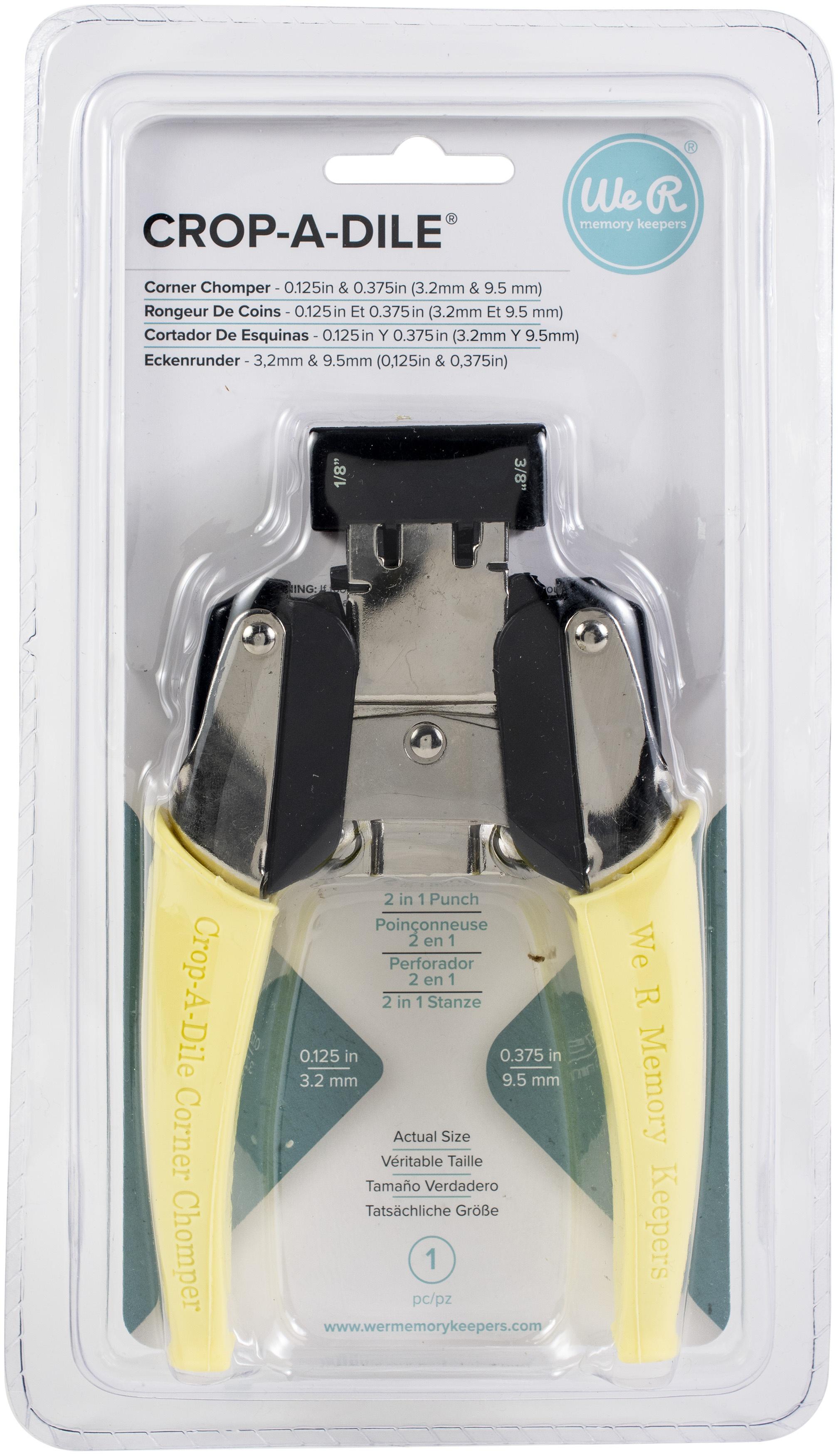 Crop-A-Dile Retro Corner Chomper Tool-0.125 & 0.375