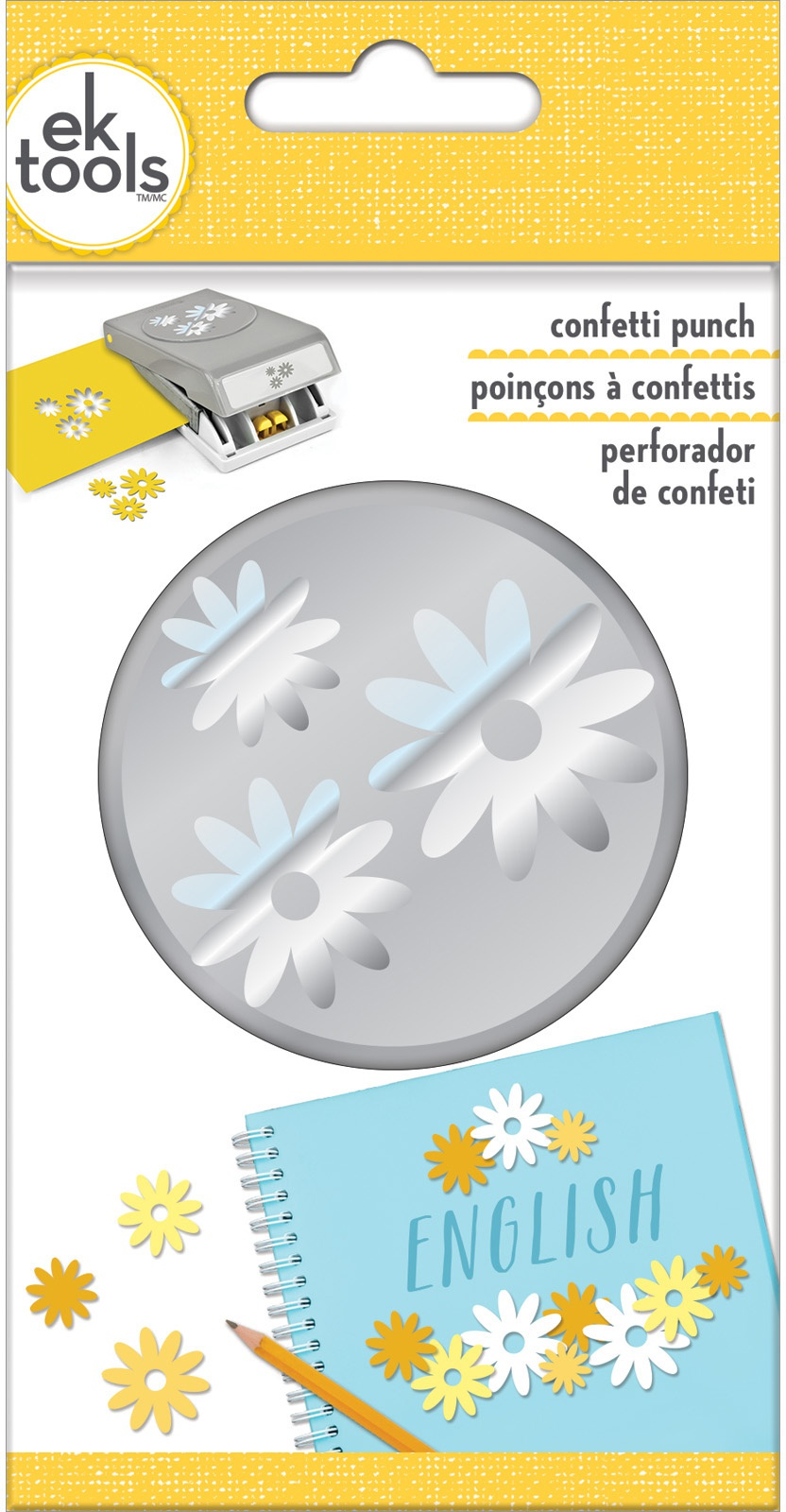 EK Tools Large Double Punch-Daisy Confetti