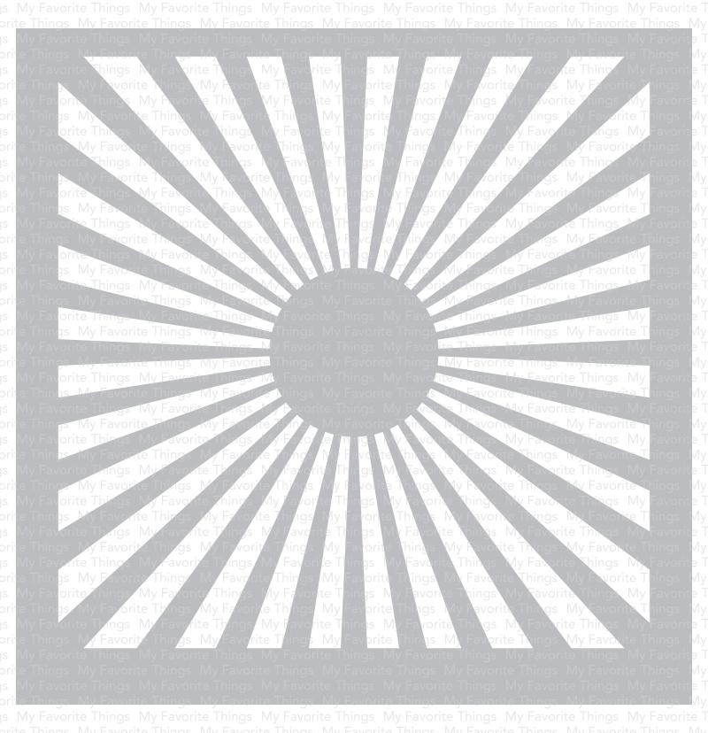 Stencil - Radiating Rays