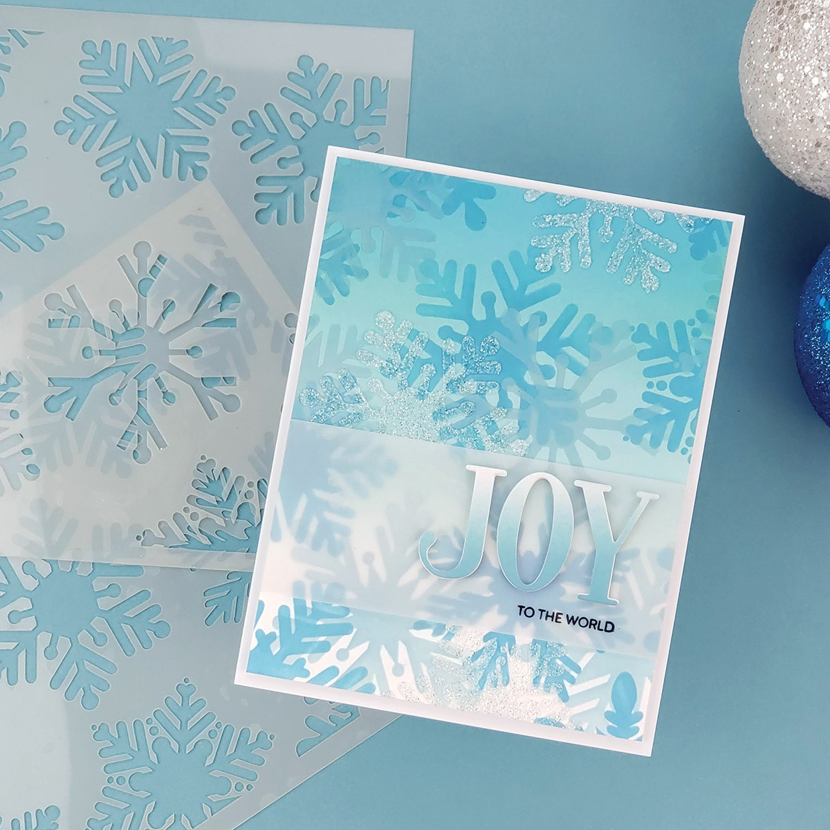 PhotoPlay Say It With Stamps Stencil - Snowflakes, 2 Layer