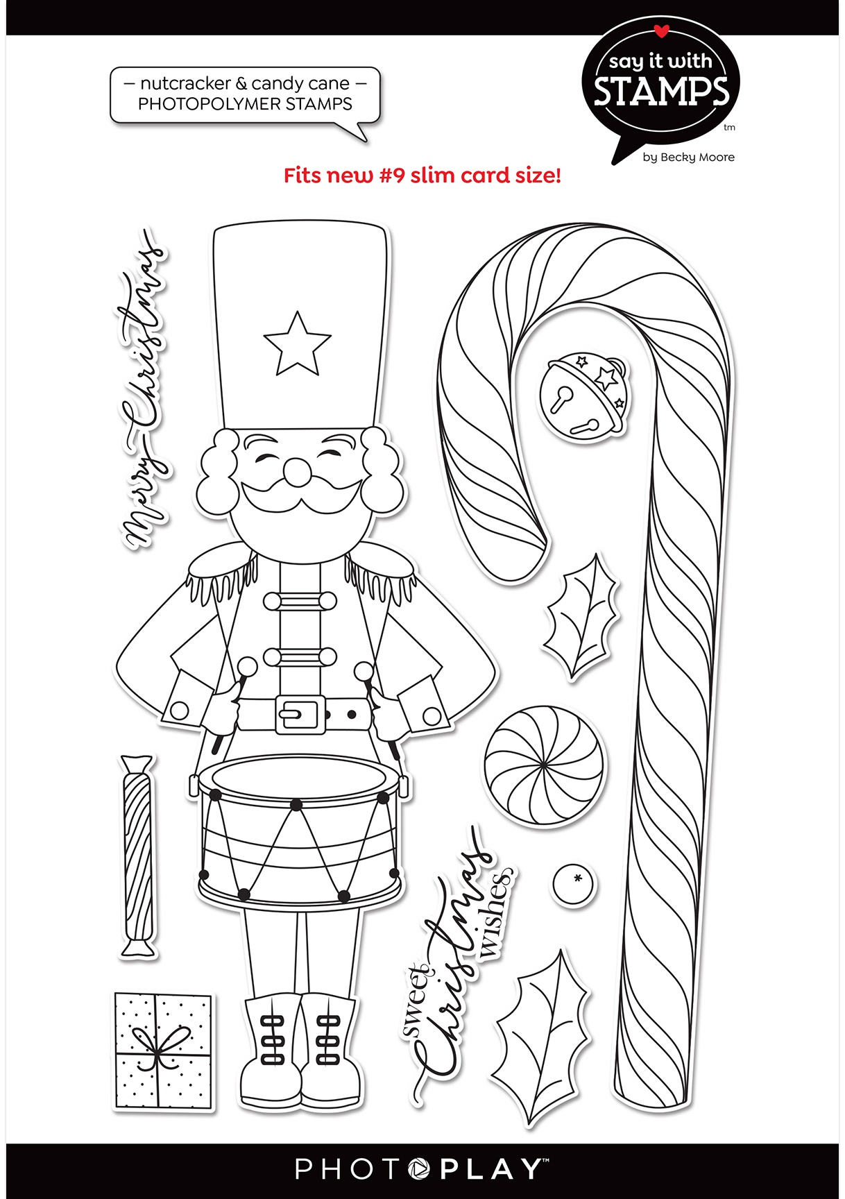#9 Nutcracker/Candy Cane Say It With Stamps