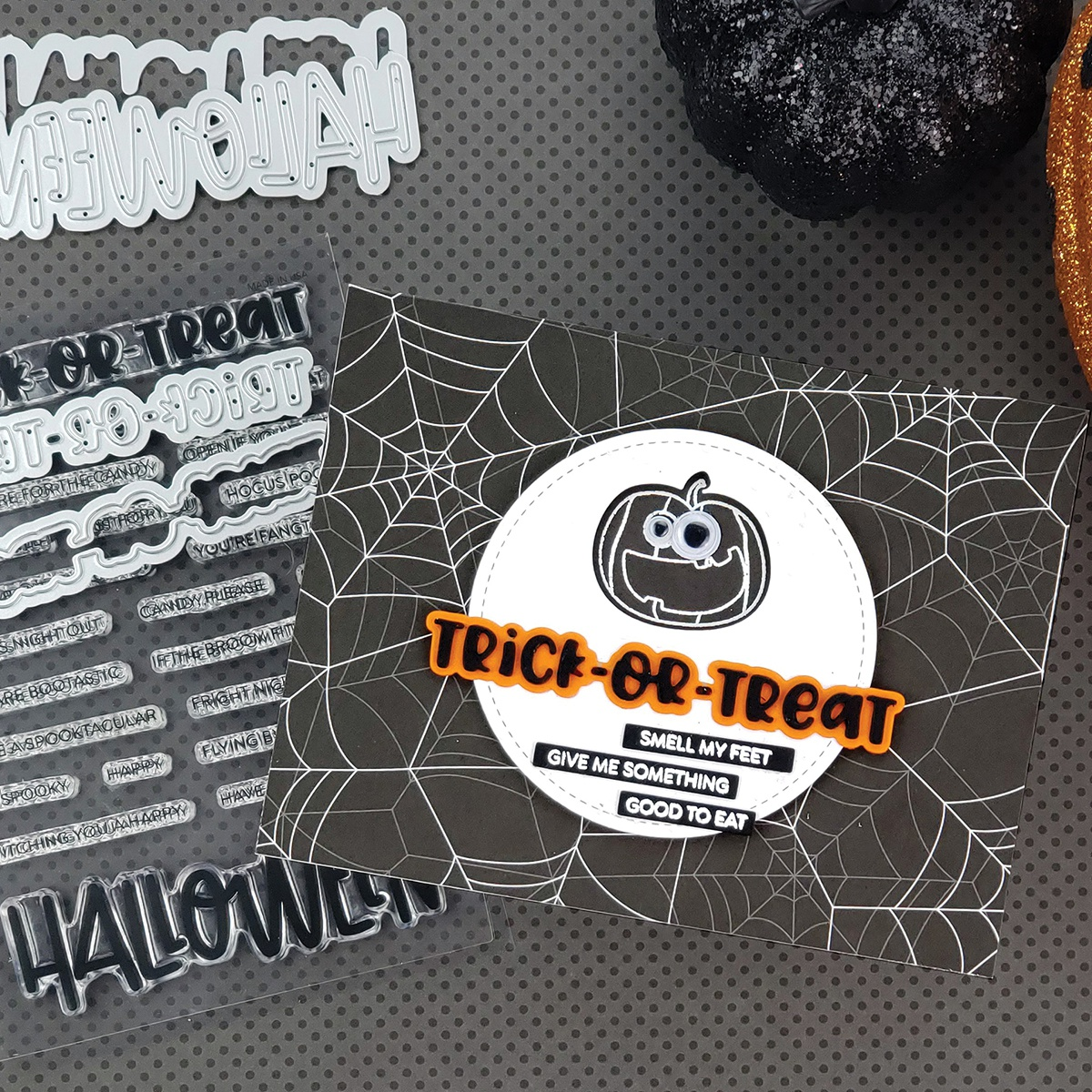 PhotoPlay Say It With Stamps Die Set-Trick/Treat
