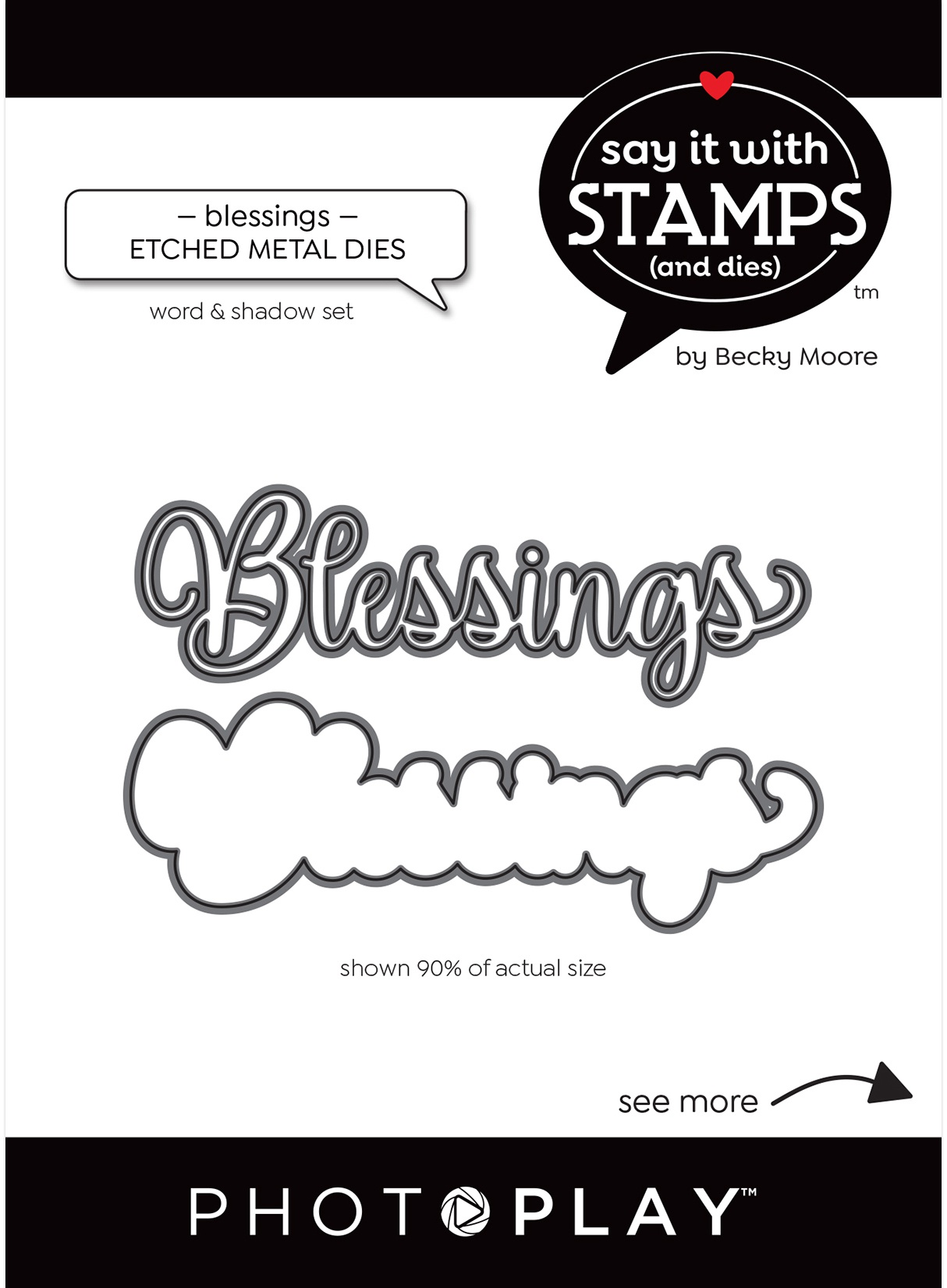 PhotoPlay Say It With Stamps Die Set-Blessings