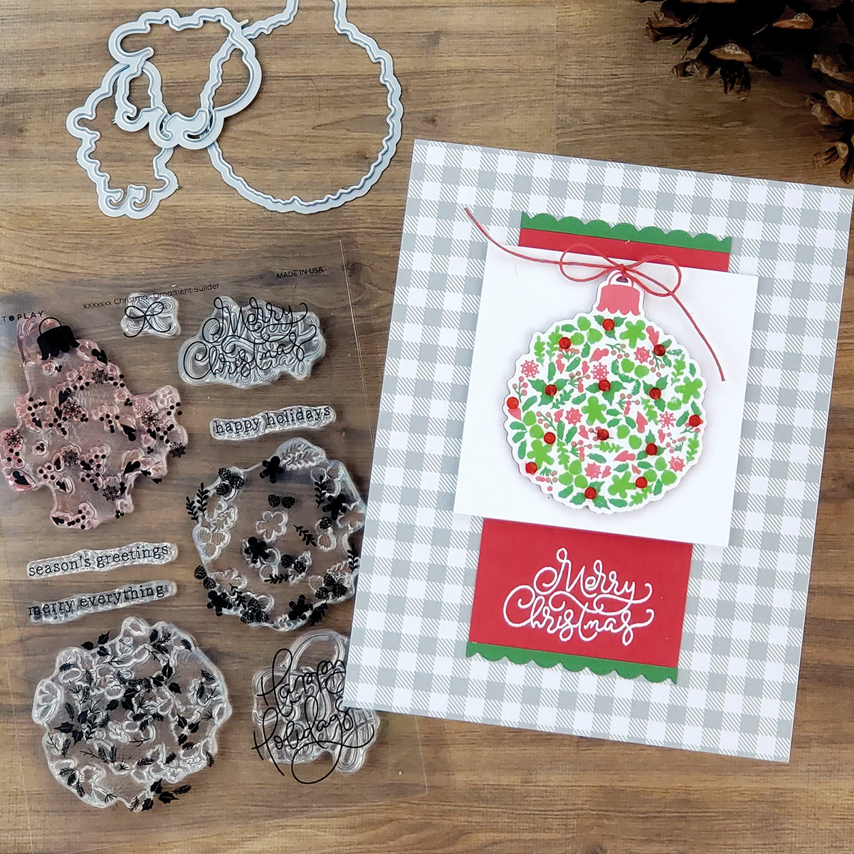 PhotoPlay Say It With Stamps Die Set-Build An Ornament
