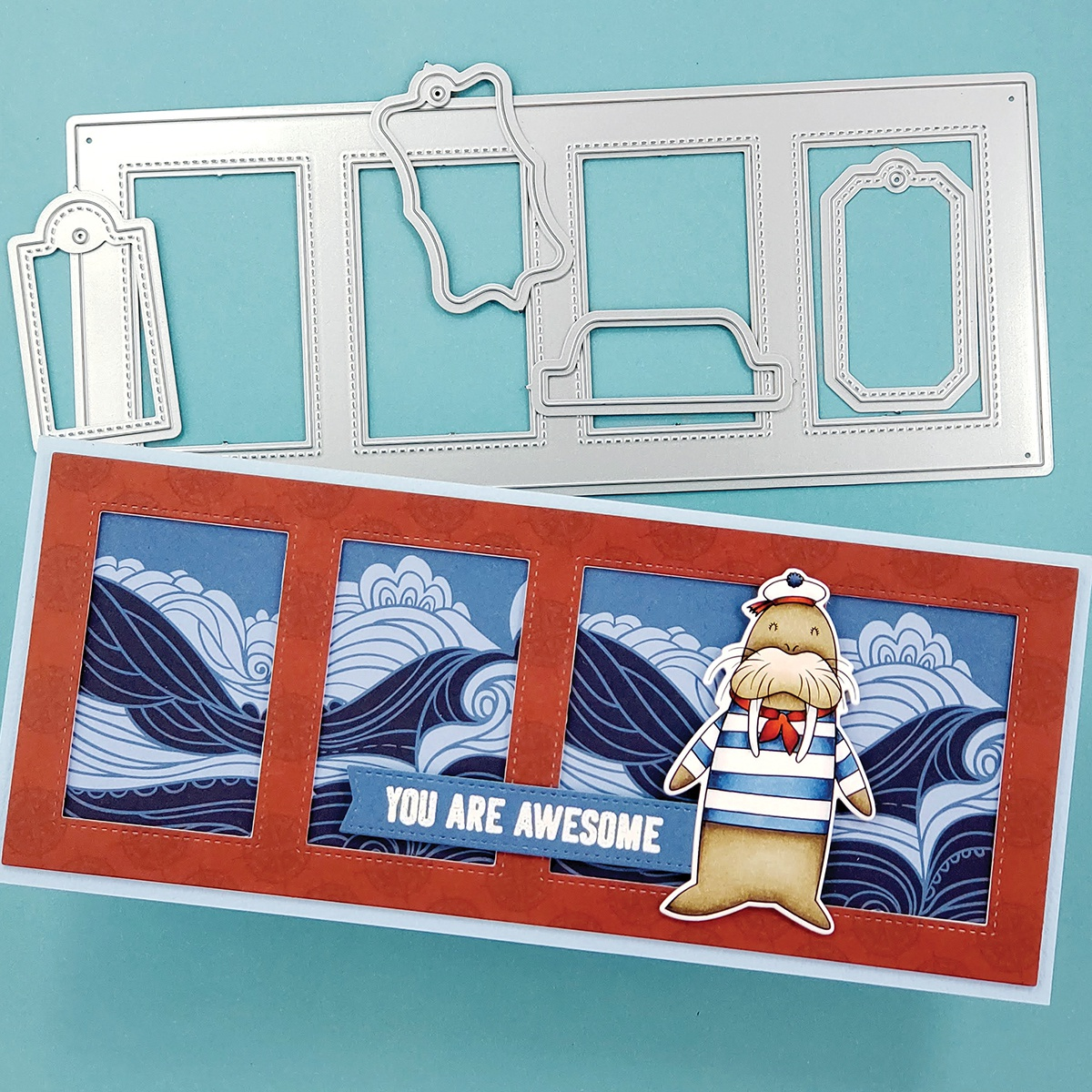 PhotoPlay Say It With Stamps Die Set-#9 Rectangle Window