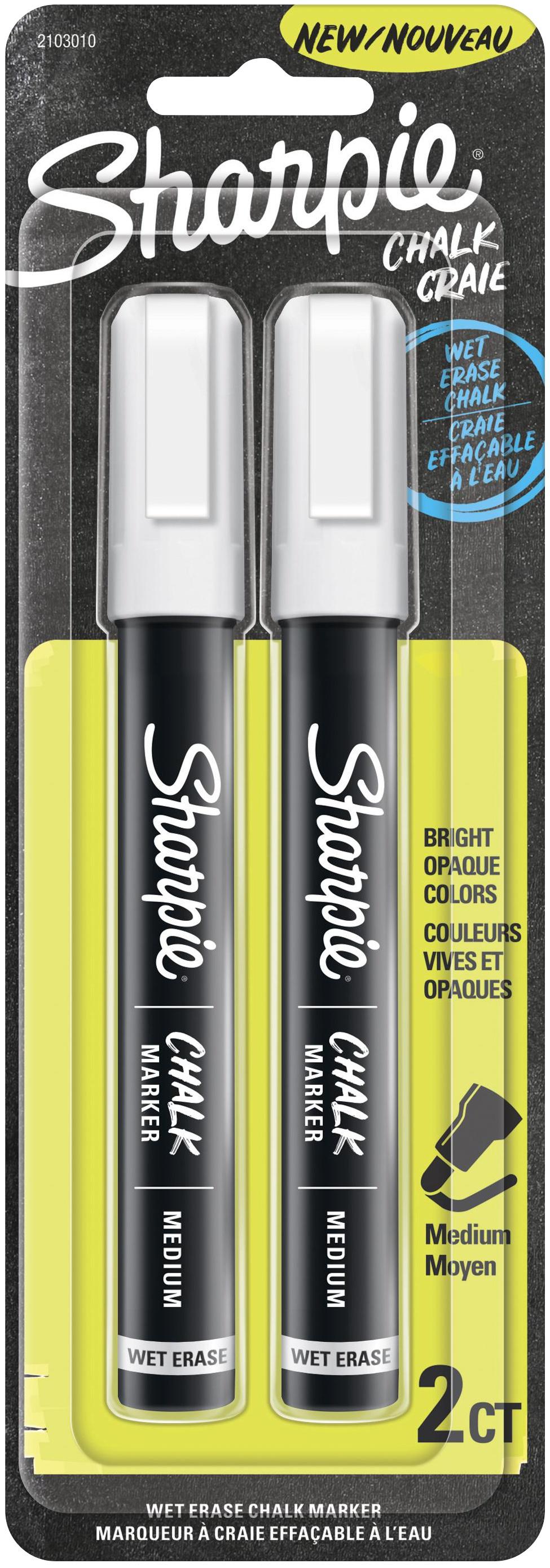 Sharpie Wet Erase Chalk Marker 2/Pkg-White