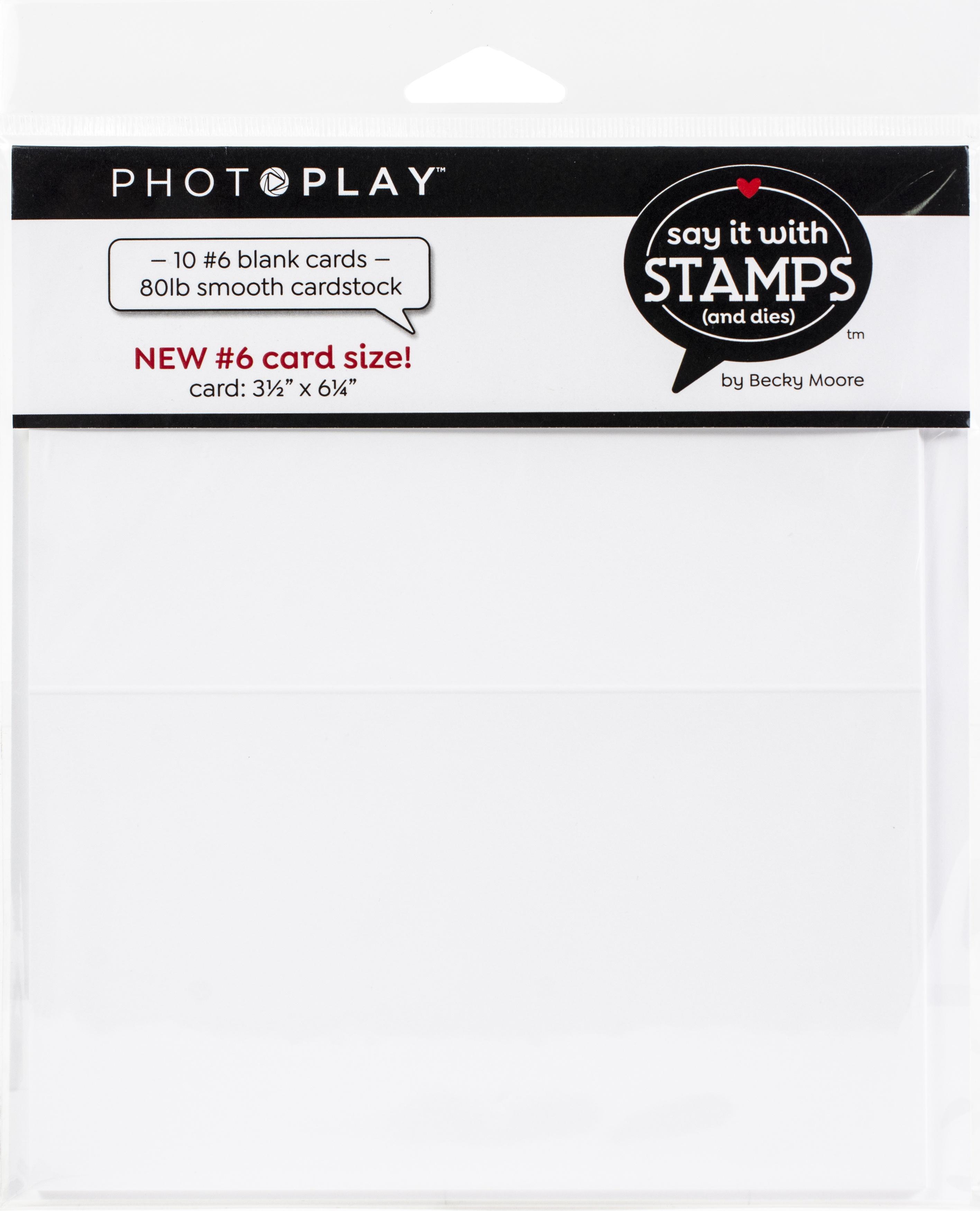 PP Scored Card 10/Pkg-#6 Blank White