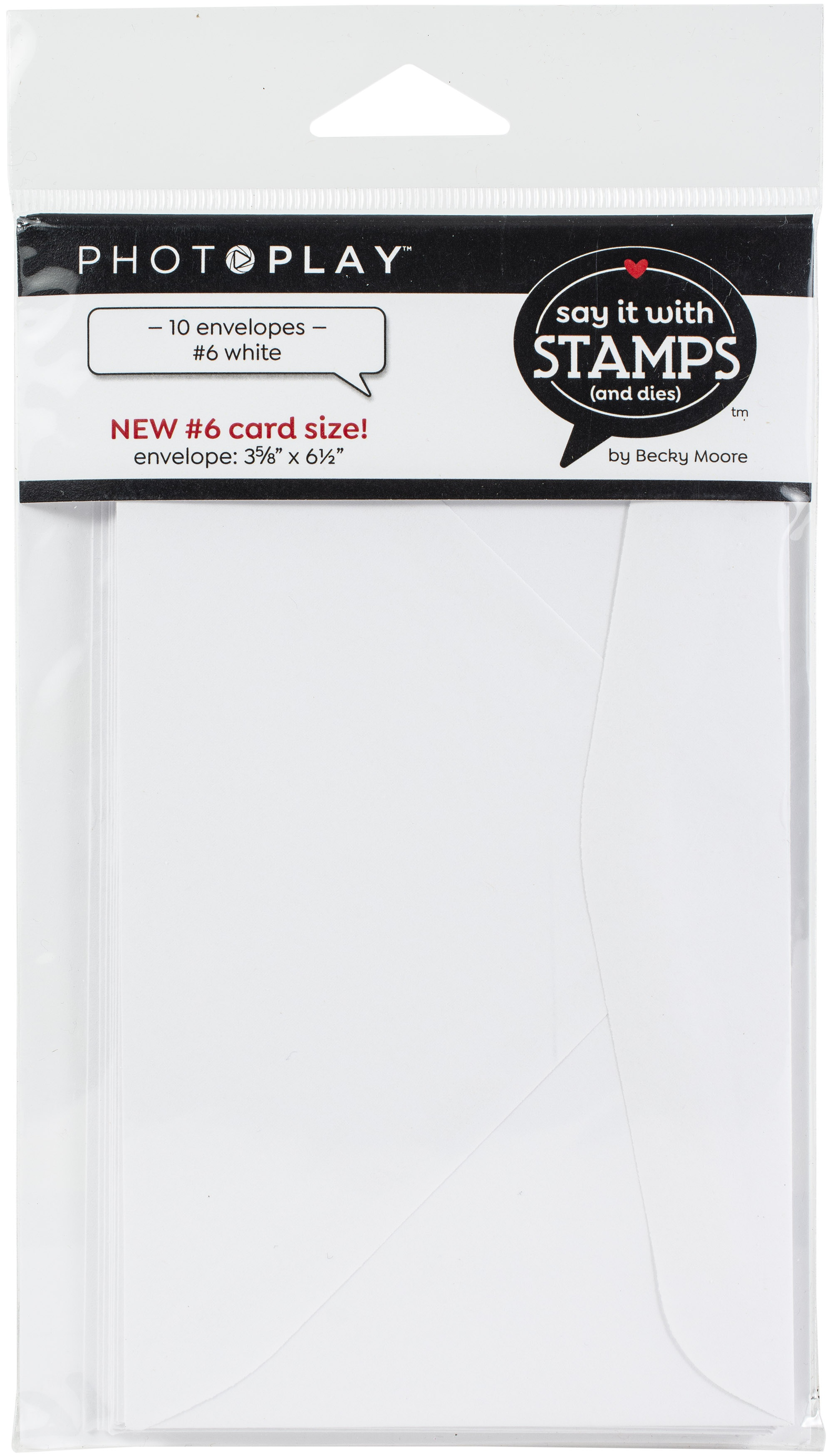 PhotoPlay Say It With Stamps Envelopes 10/Pkg-#6 White