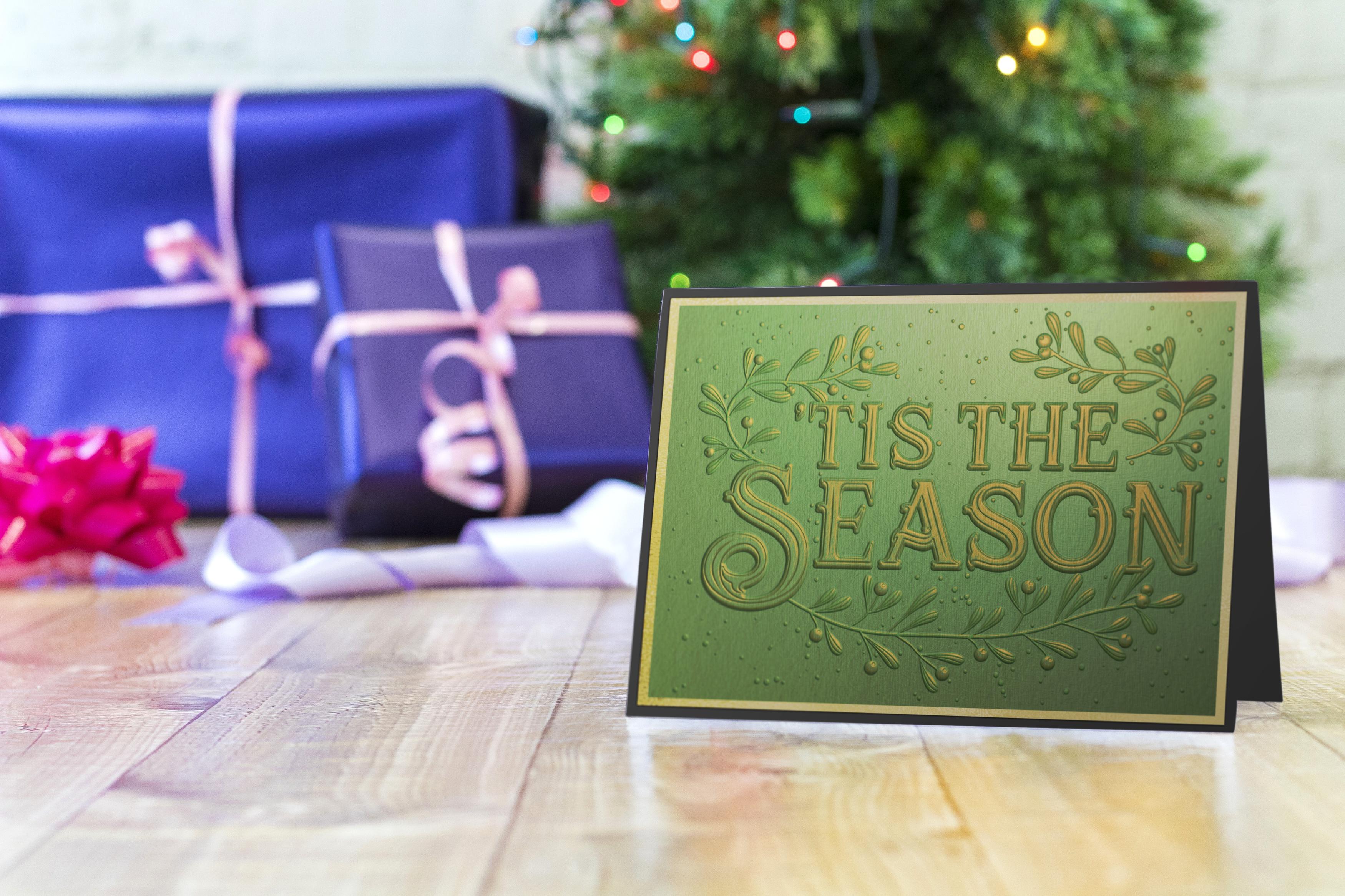 'Tis The Season 3D Embossing Folder 5X7-