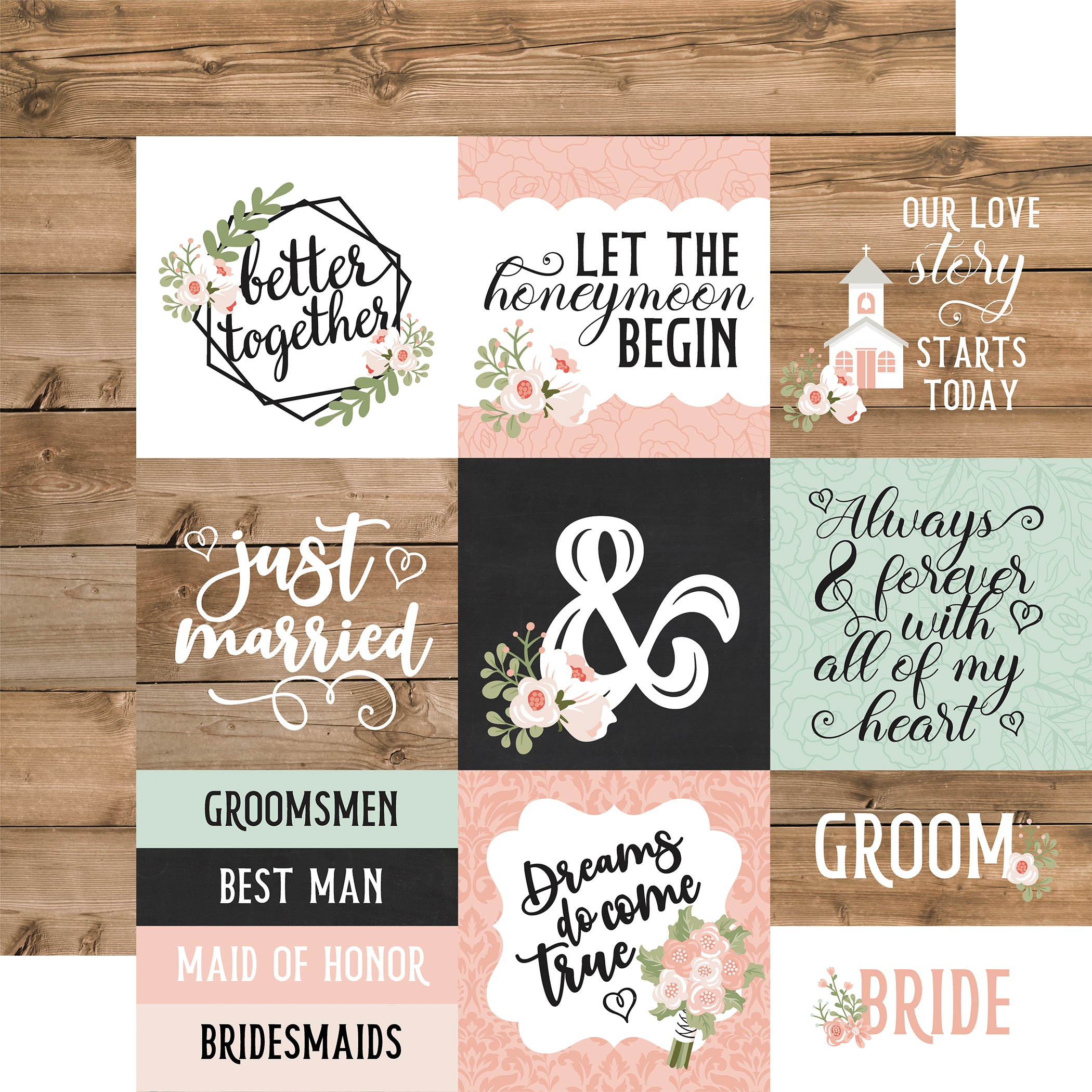 Our Wedding- 12X12 Cardstock