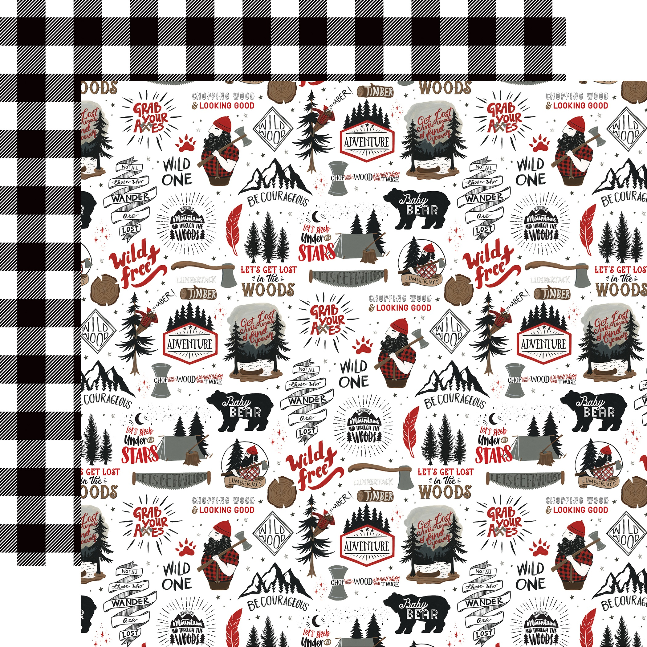 Let's Lumberjack Double-Sided Cardstock 12X12-Wild & Free