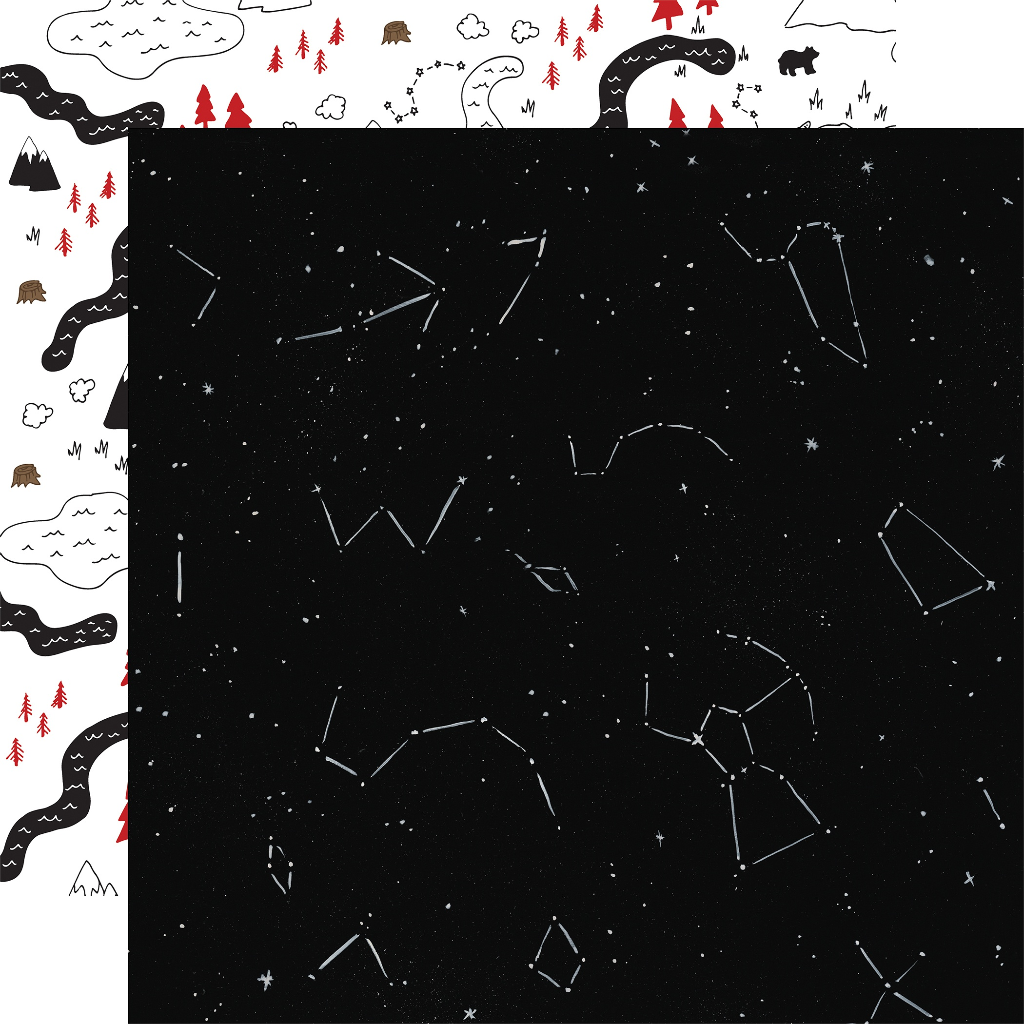 Let's Lumberjack Double-Sided Cardstock 12X12-Under The Stars