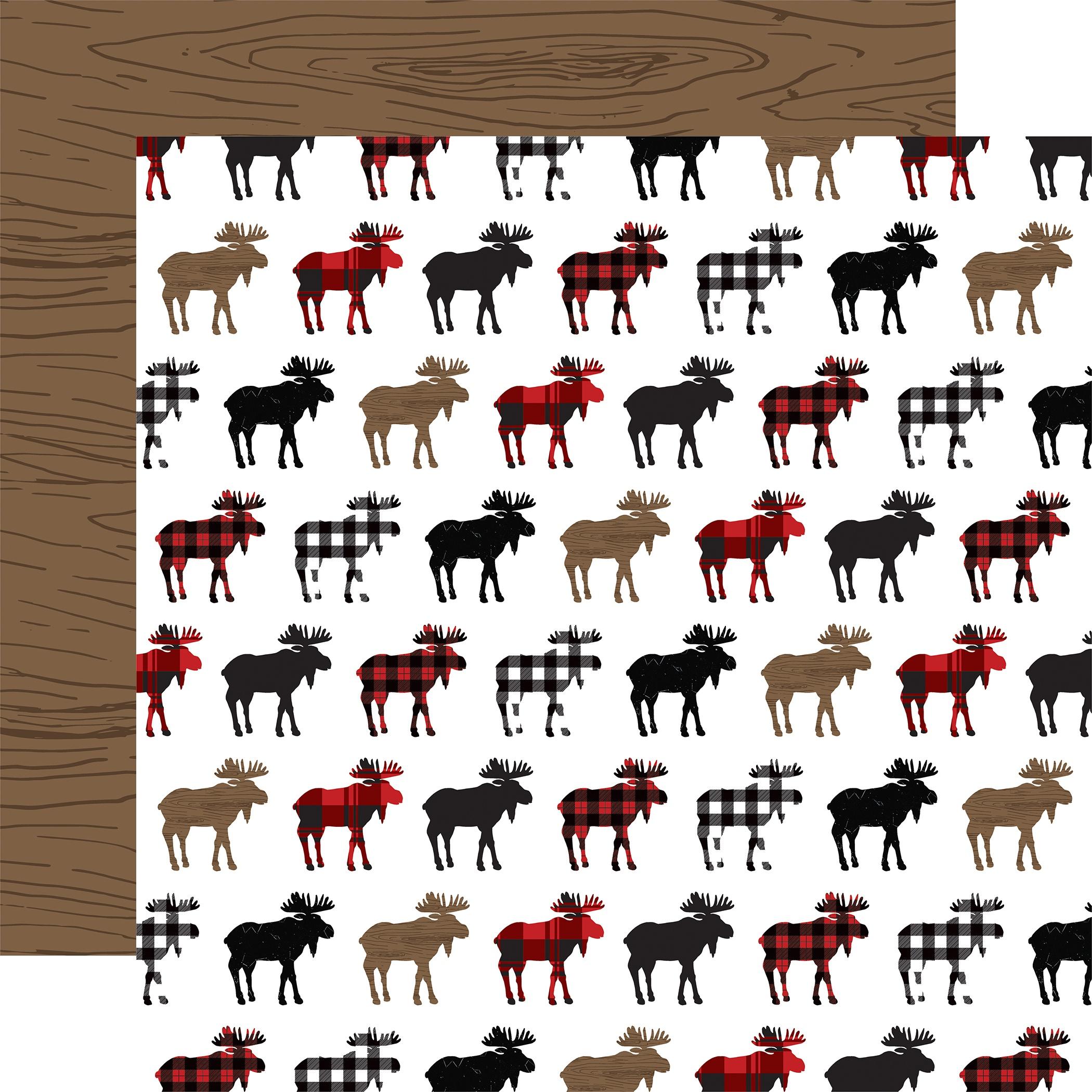 Let's Lumberjack Double-Sided Cardstock 12X12-Moose