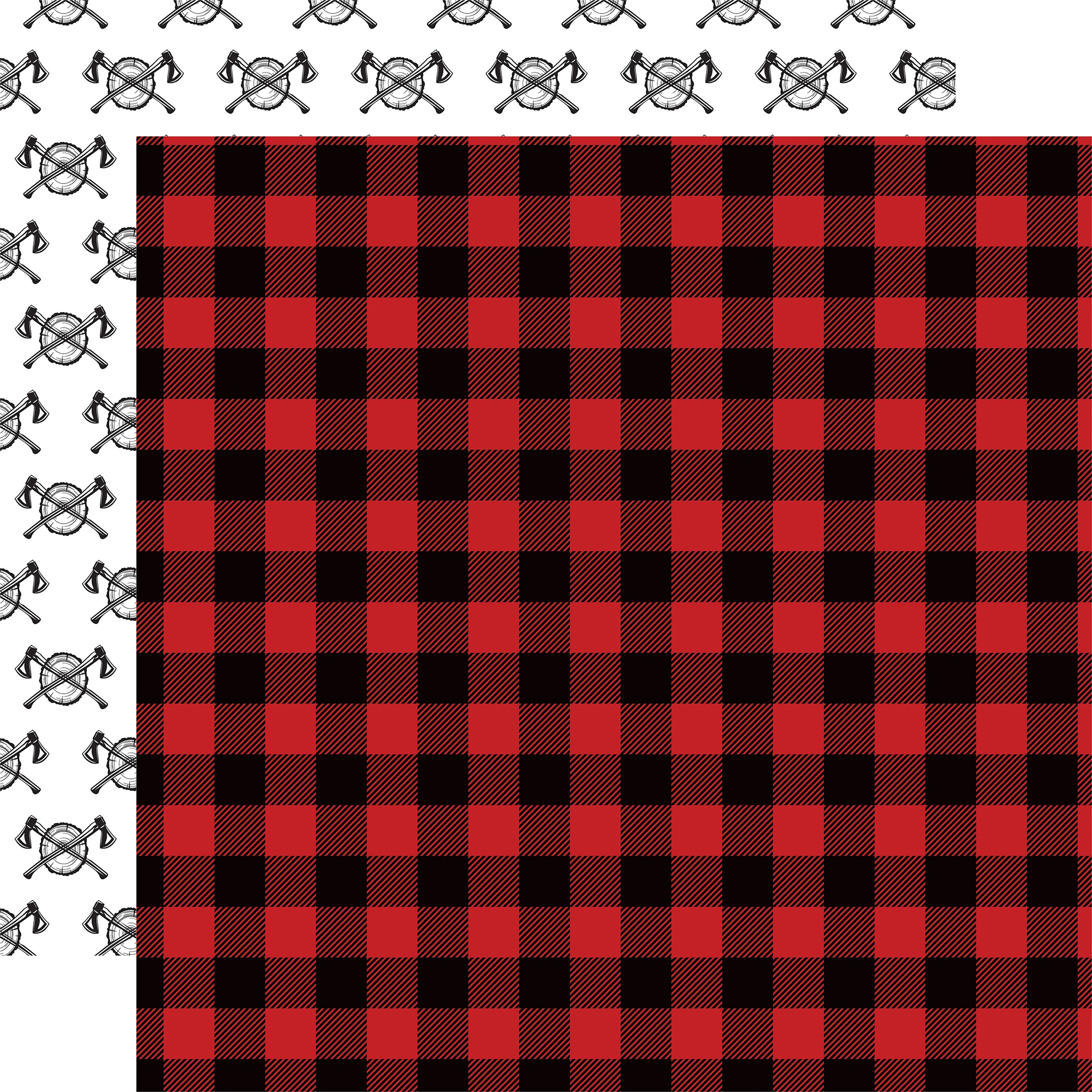 Let's Lumberjack Double-Sided Cardstock 12X12-Flannel