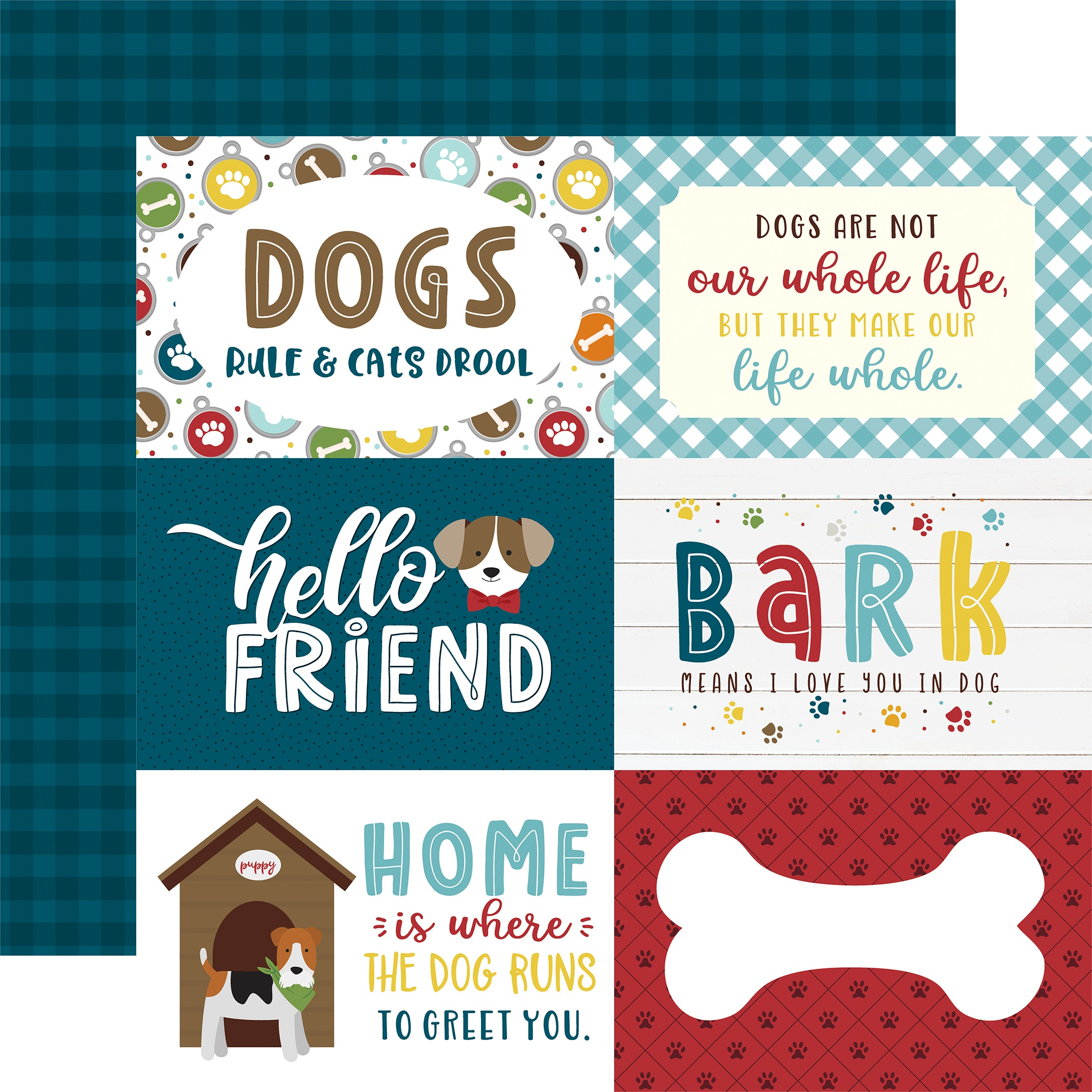 My Dog Double-Sided Cardstock 12X12-6X4 Journaling Cards