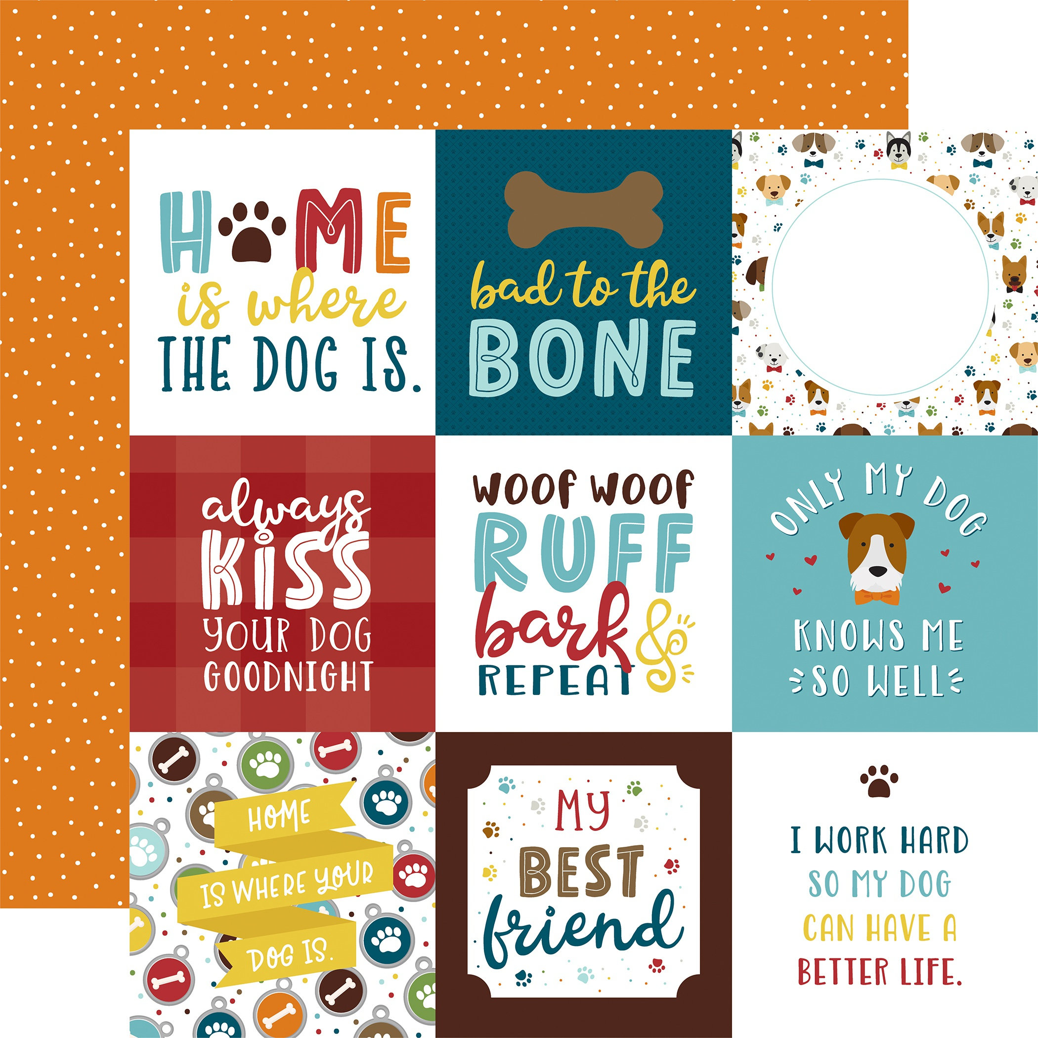 My Dog Double-Sided Cardstock 12X12-4X4 Journaling Cards