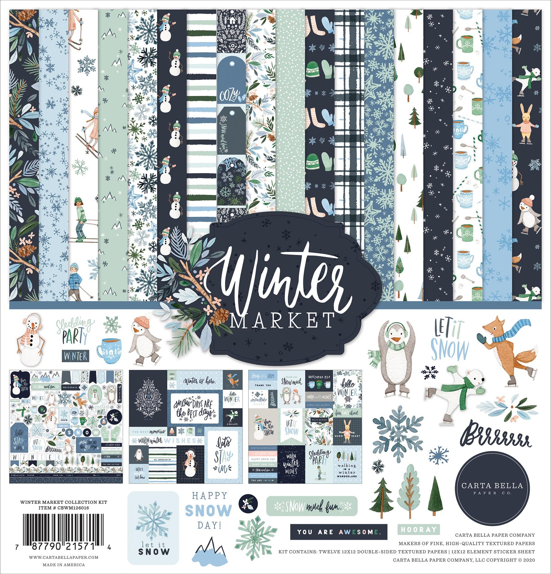 Carta Bella Collection Kit 12X12-Winter Market