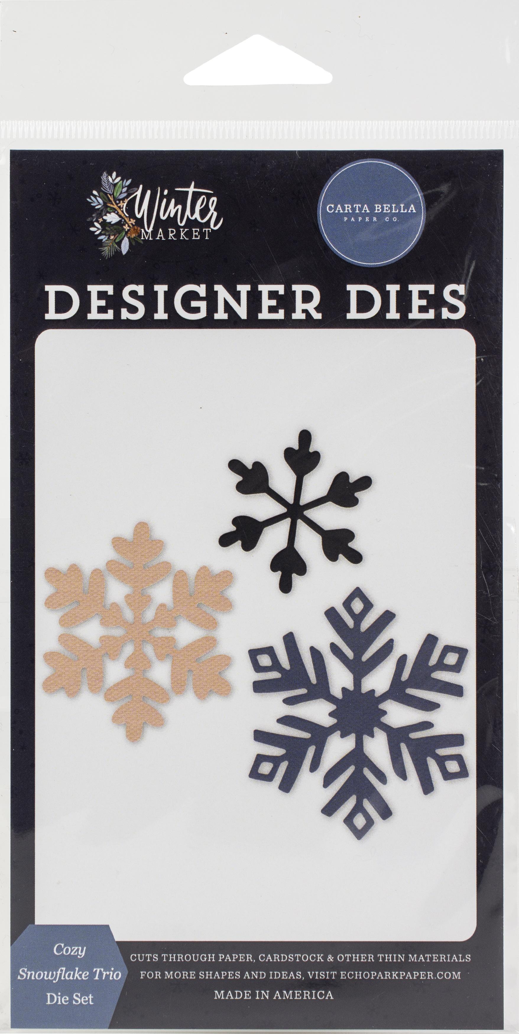 Carte Bella Dies-Cozy Snowflake Trio