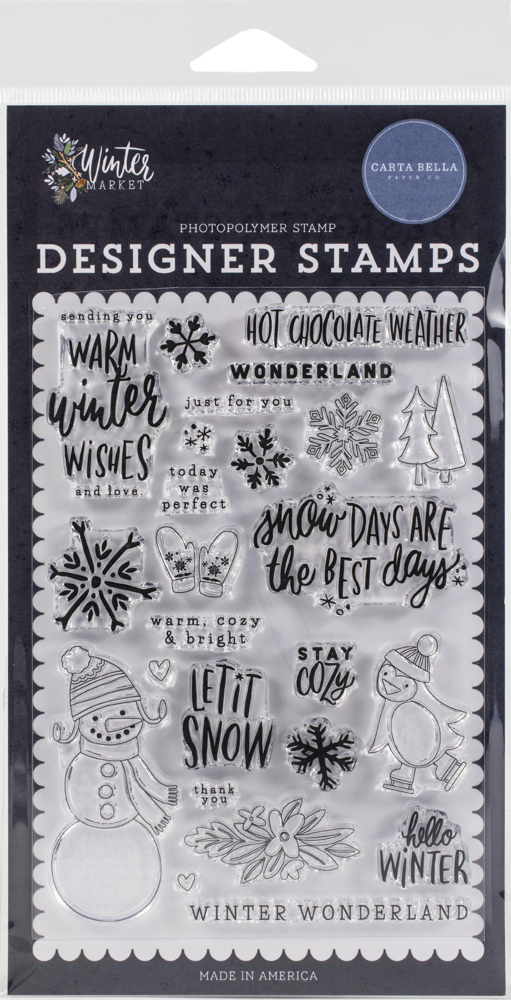 Carta Bella Stamps-Warm Winter Wishes