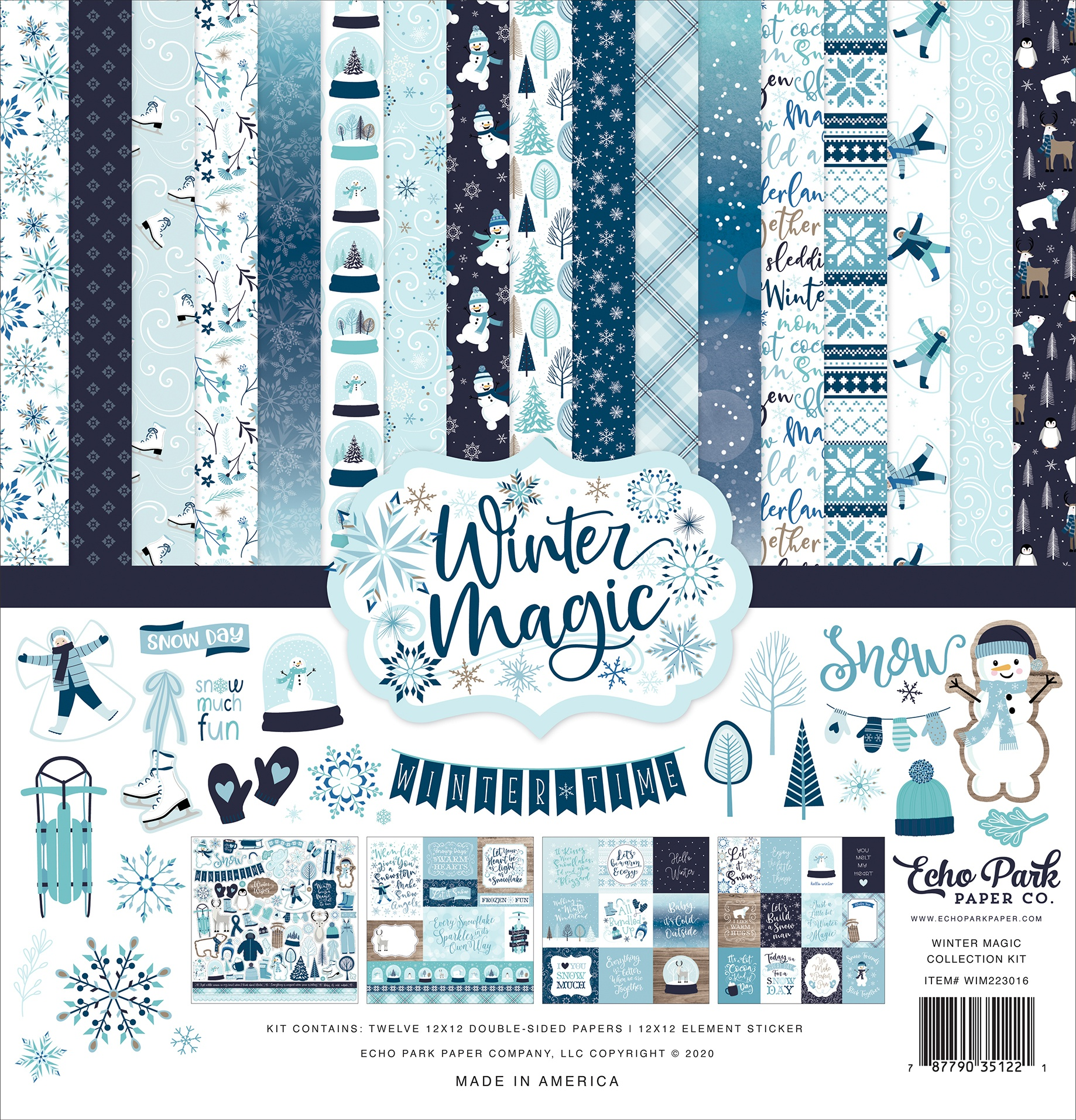 Echo Park Collection Kit 12X12-Winter Magic