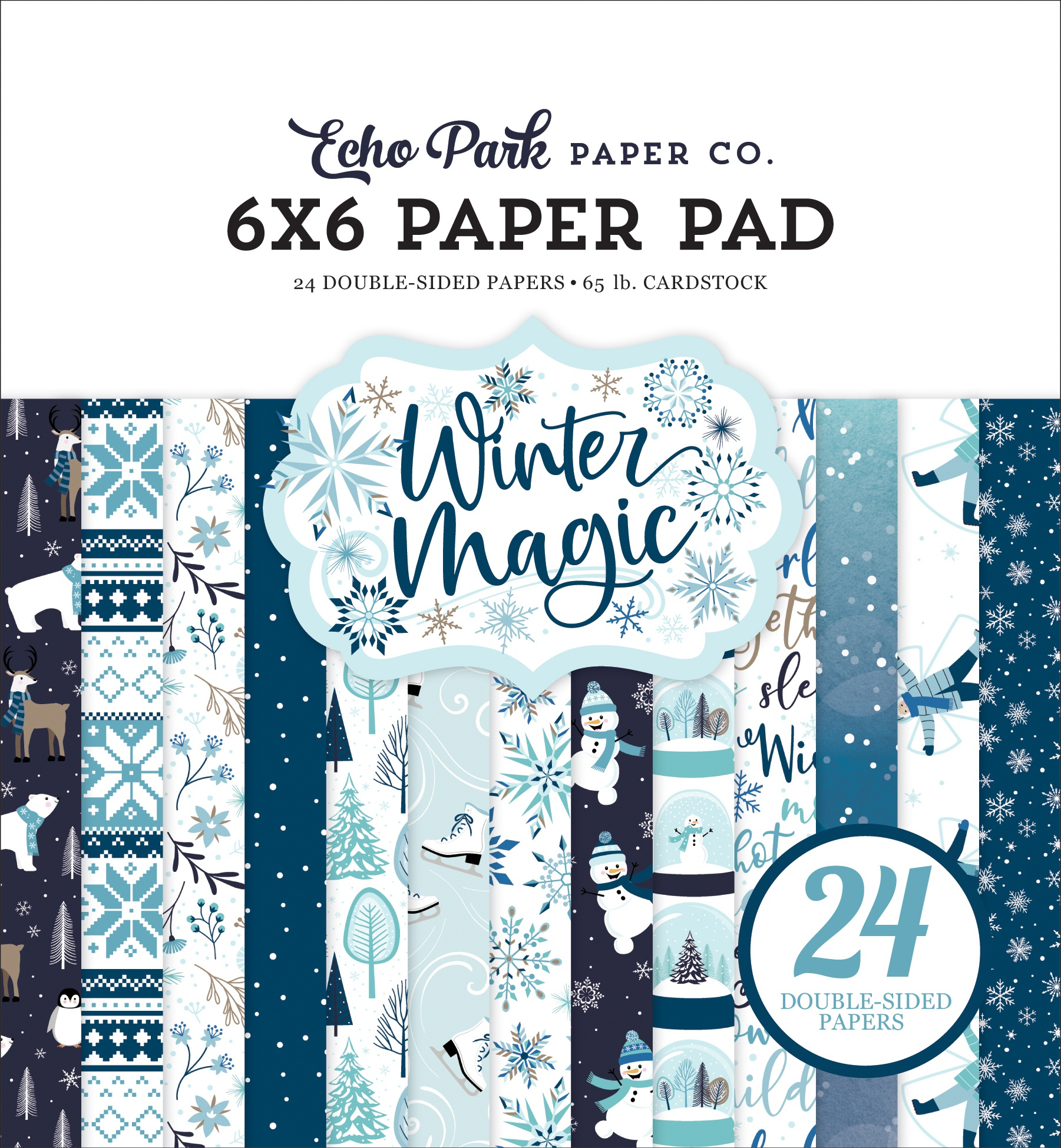 Echo Park Double-Sided Paper Pad 6X6 24/Pkg-Winter Magic