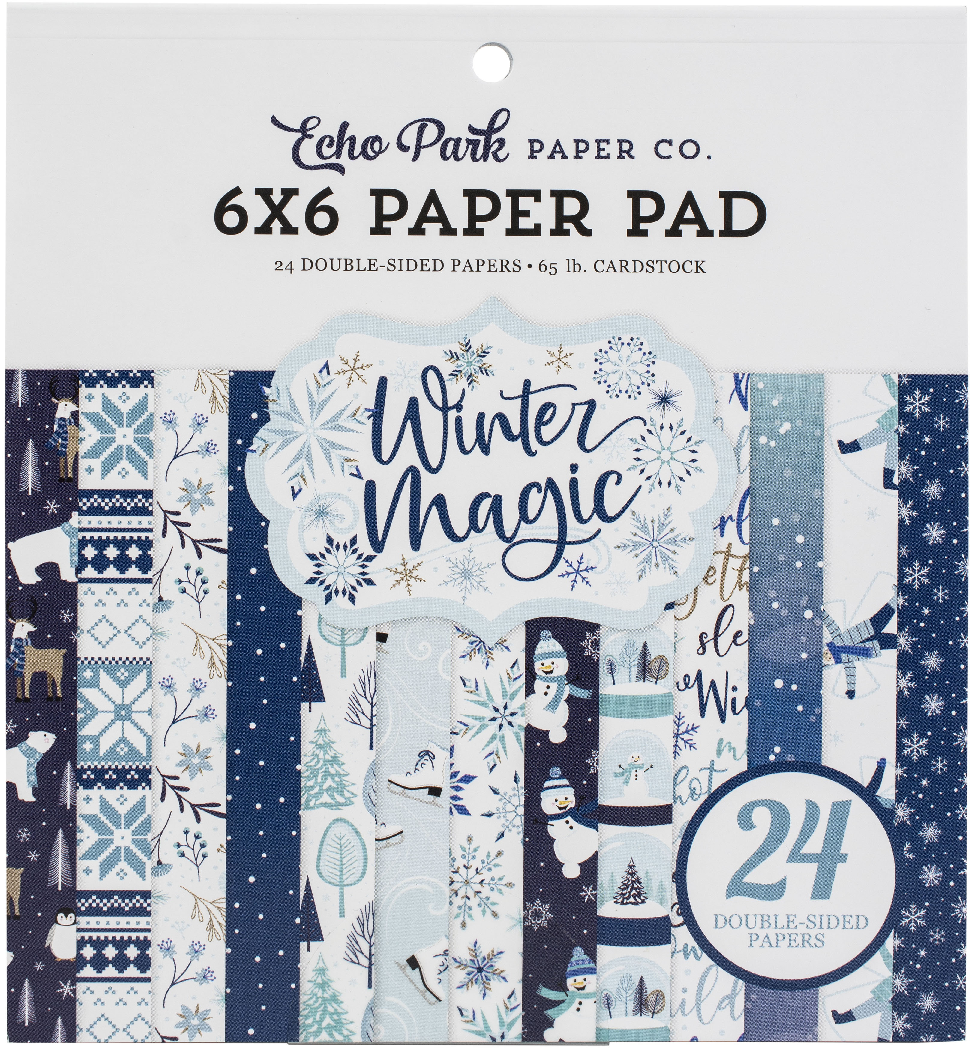 Echo Park Double-Sided Paper Pad 6X6 24/Pkg-Winter Magic