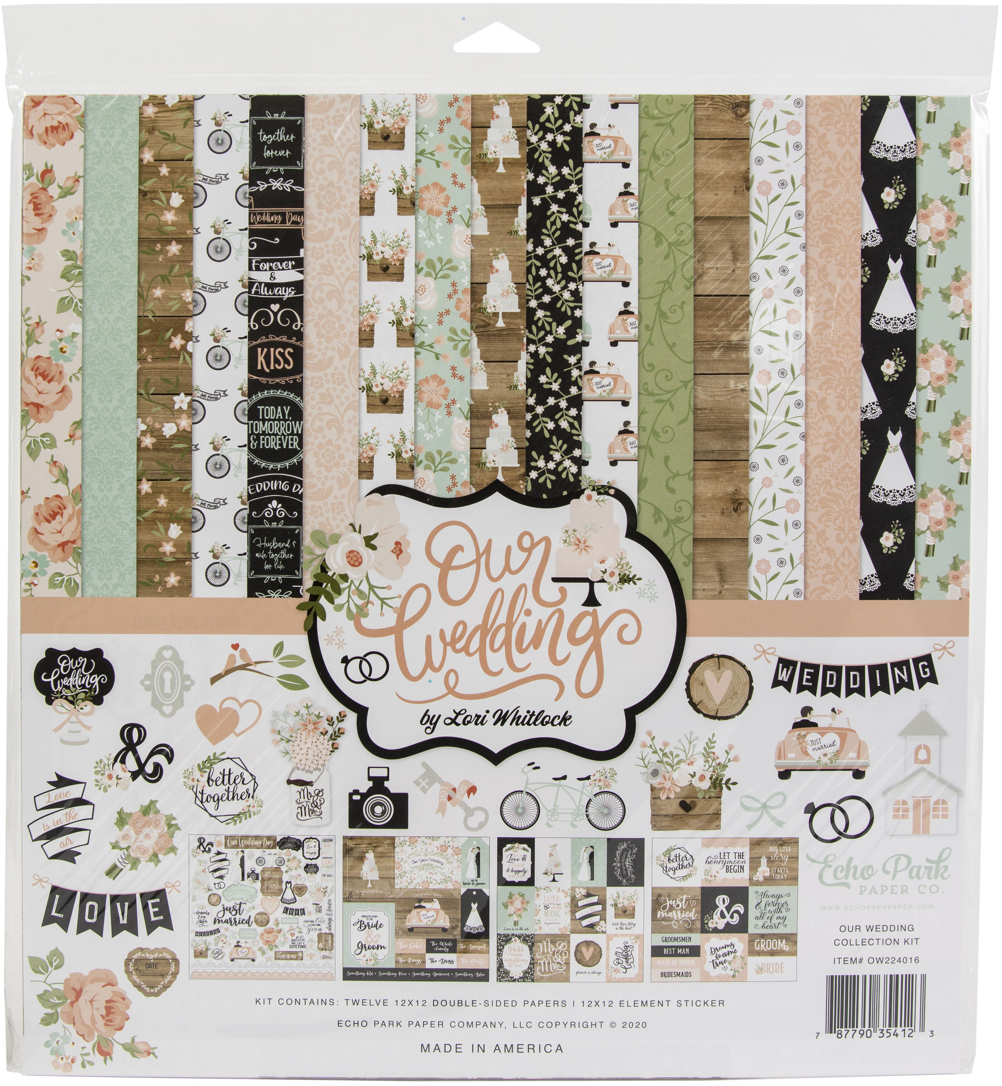 Echo Park Collection Kit 12X12-Our Wedding