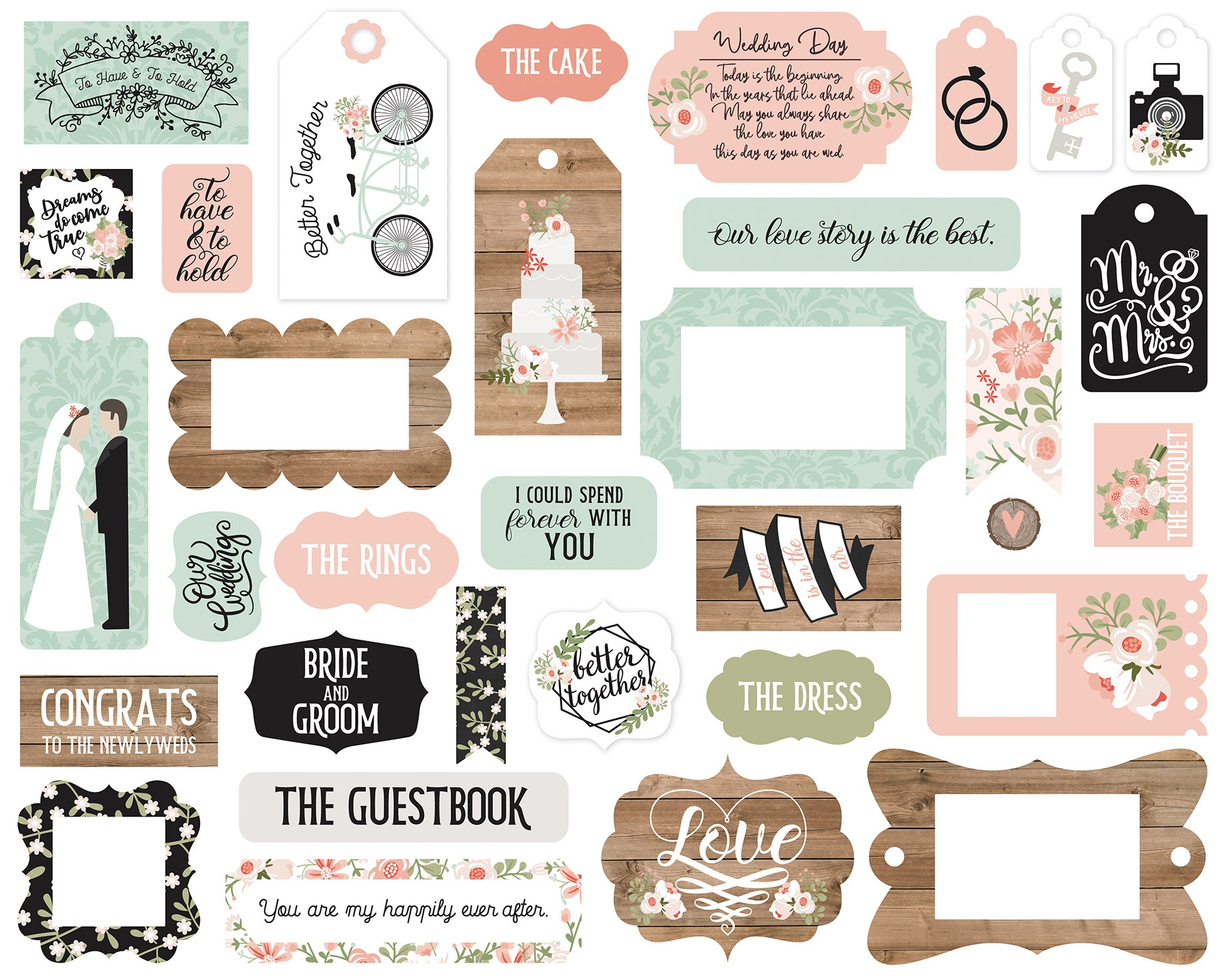 Our Wedding- Frames & Tags