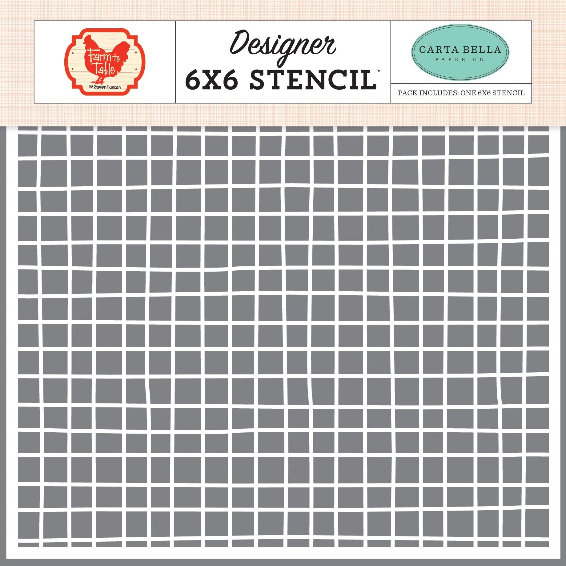Carta Bella Stencil 6X6-Farm Grid