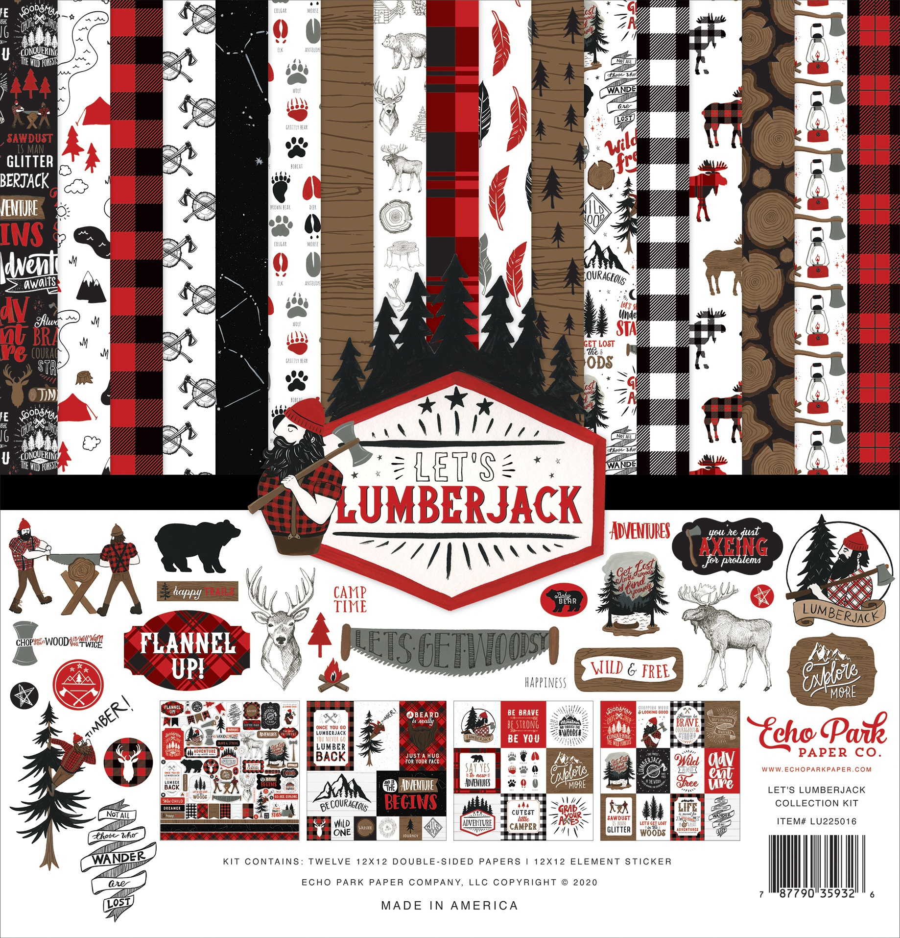 Echo Park Collection Kit 12X12-Let's Lumberjack