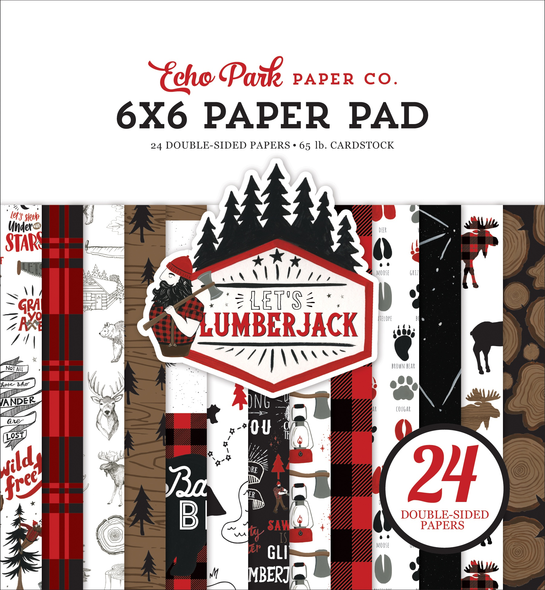 Echo Park Double-Sided Paper Pad 6X6 24/Pkg-Let's Lumberjack
