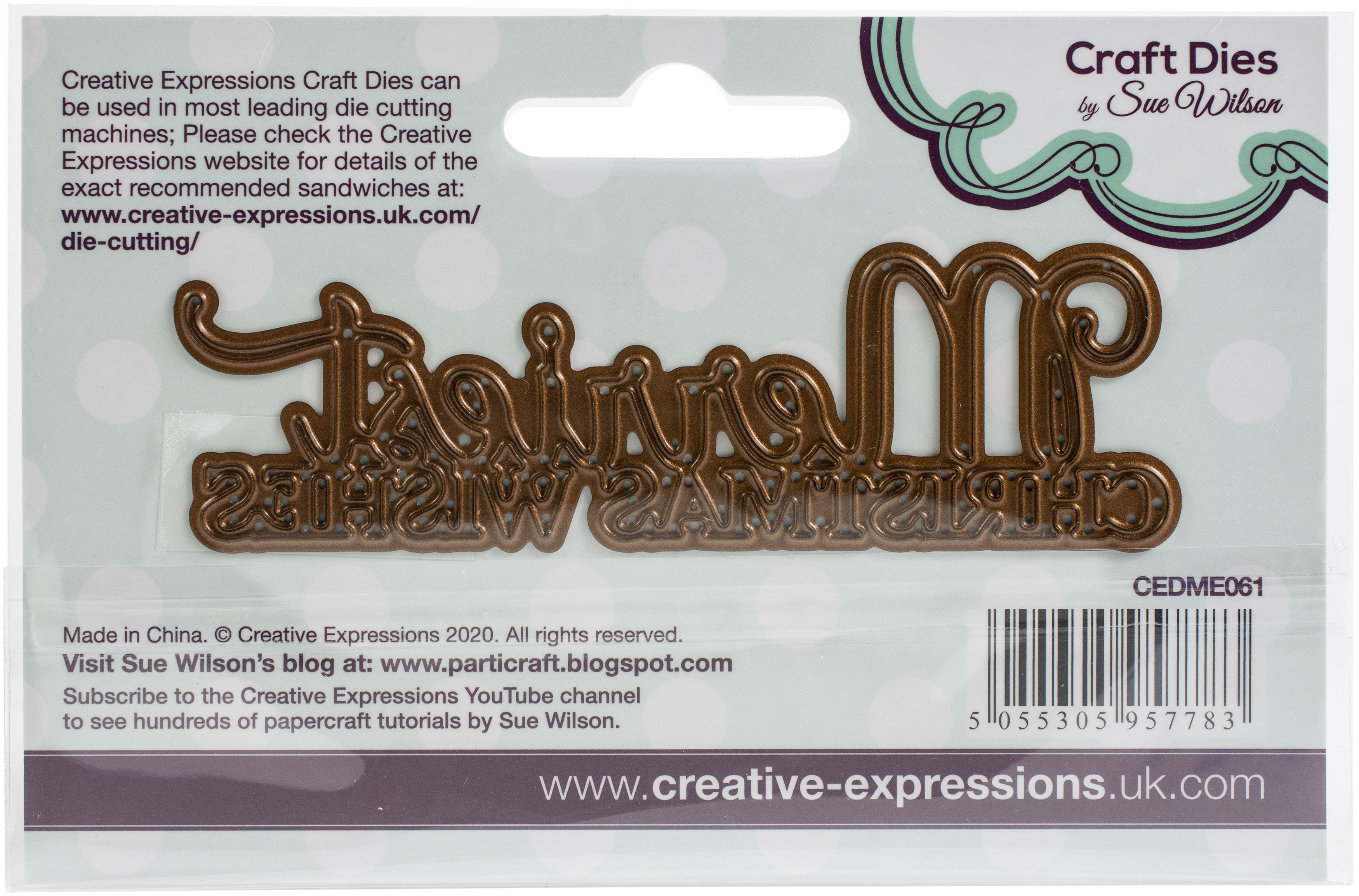 Creative Expressions Craft Dies By Sue Wilson-Merriest Christmas Wishes