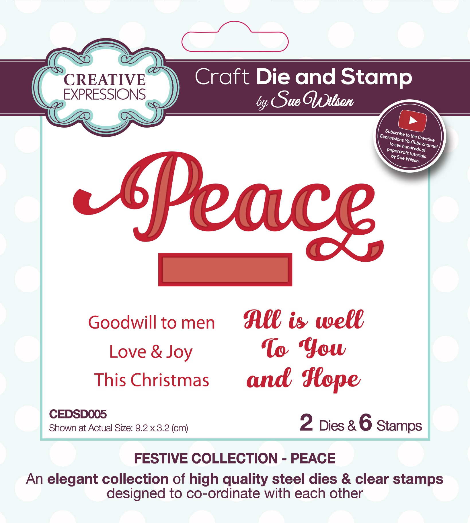 Creative Expressions Craft Die And Stamp Set By Sue Wilson-Peace