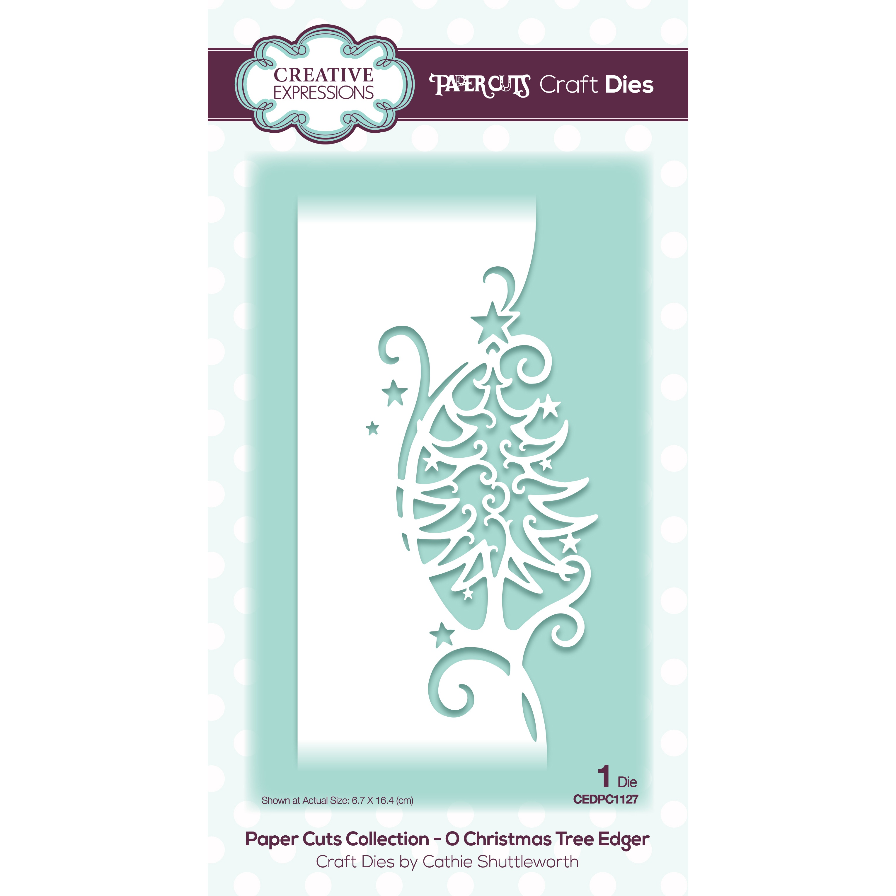 Creative Expressions Paper Cuts Edger Craft Dies-O Christmas Tree